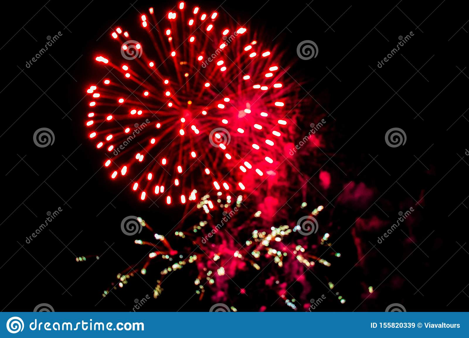 Colorful fireworks in Summer Nights 4