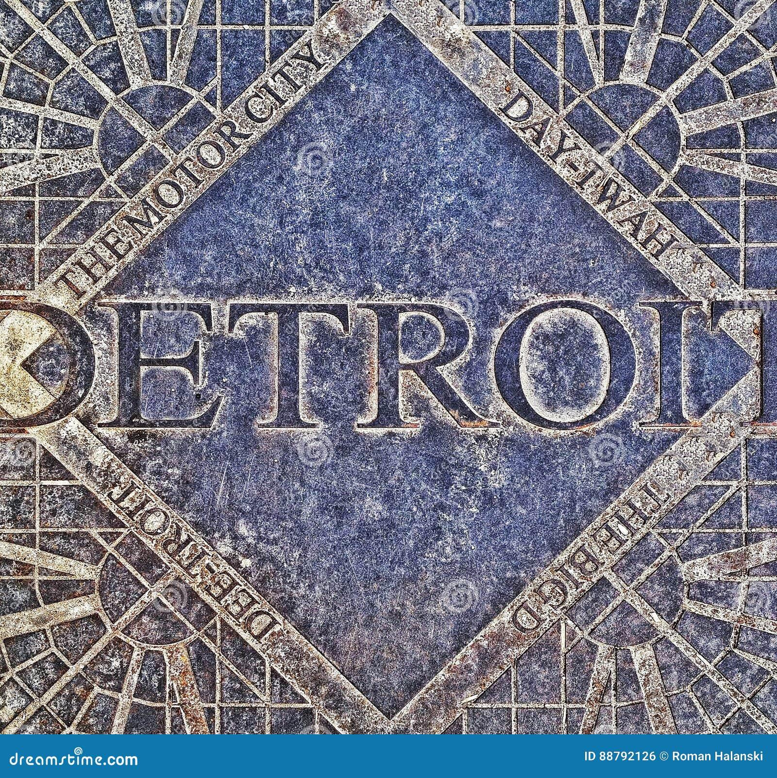 Tampa de câmara de visita de Detroit