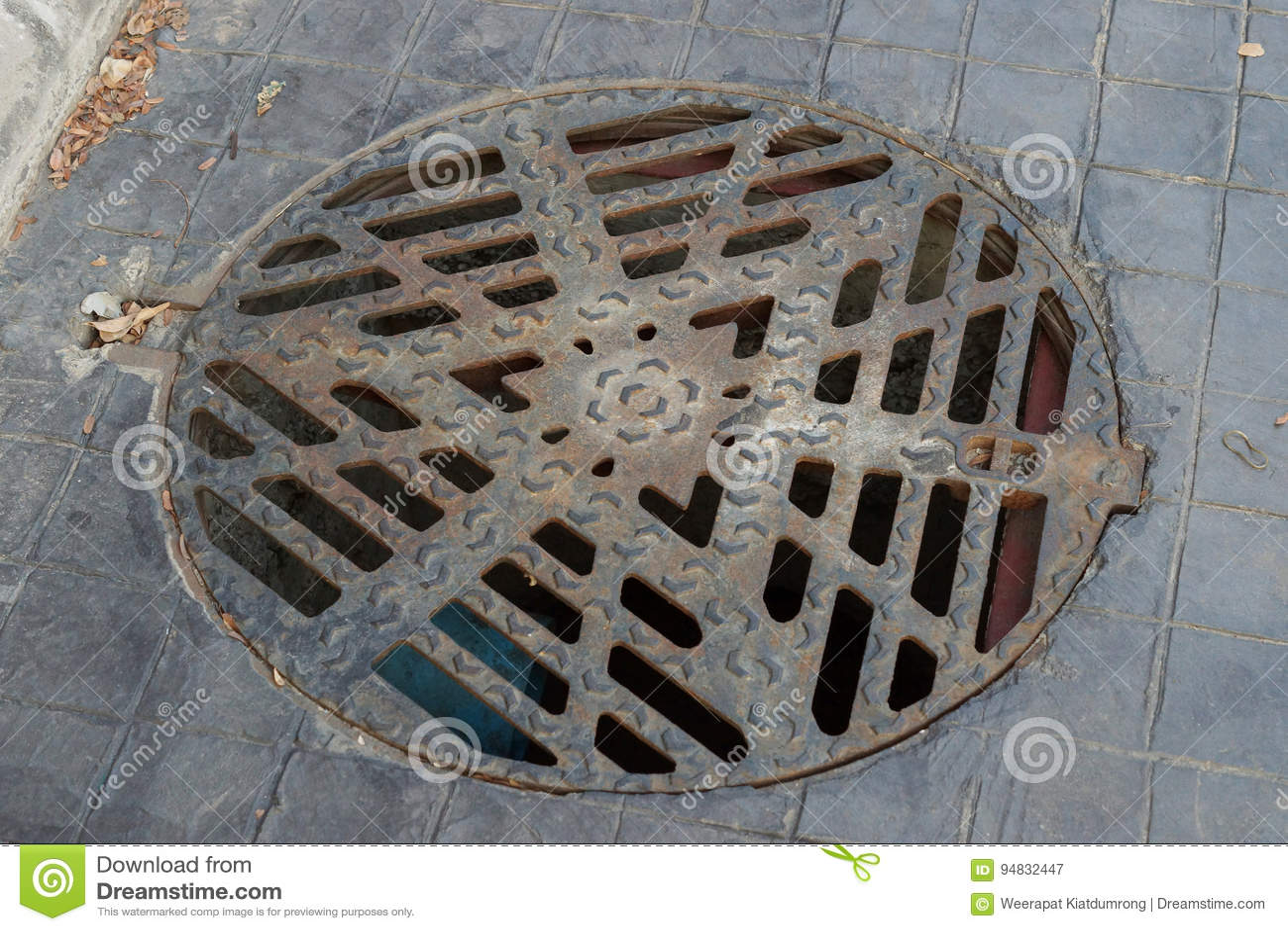 Tampa do dreno do círculo com grade