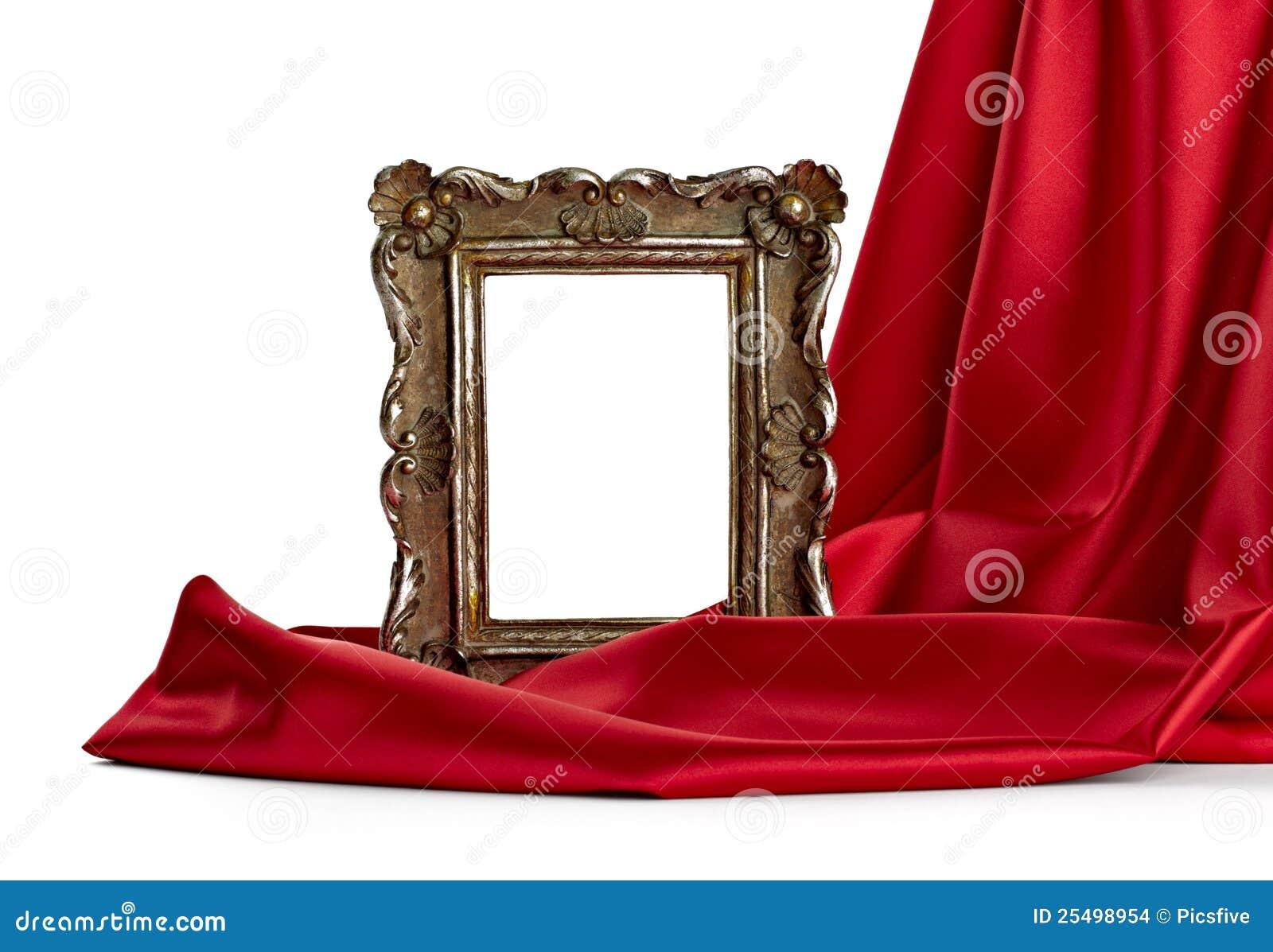 Tampa do frame de madeira e da seda
