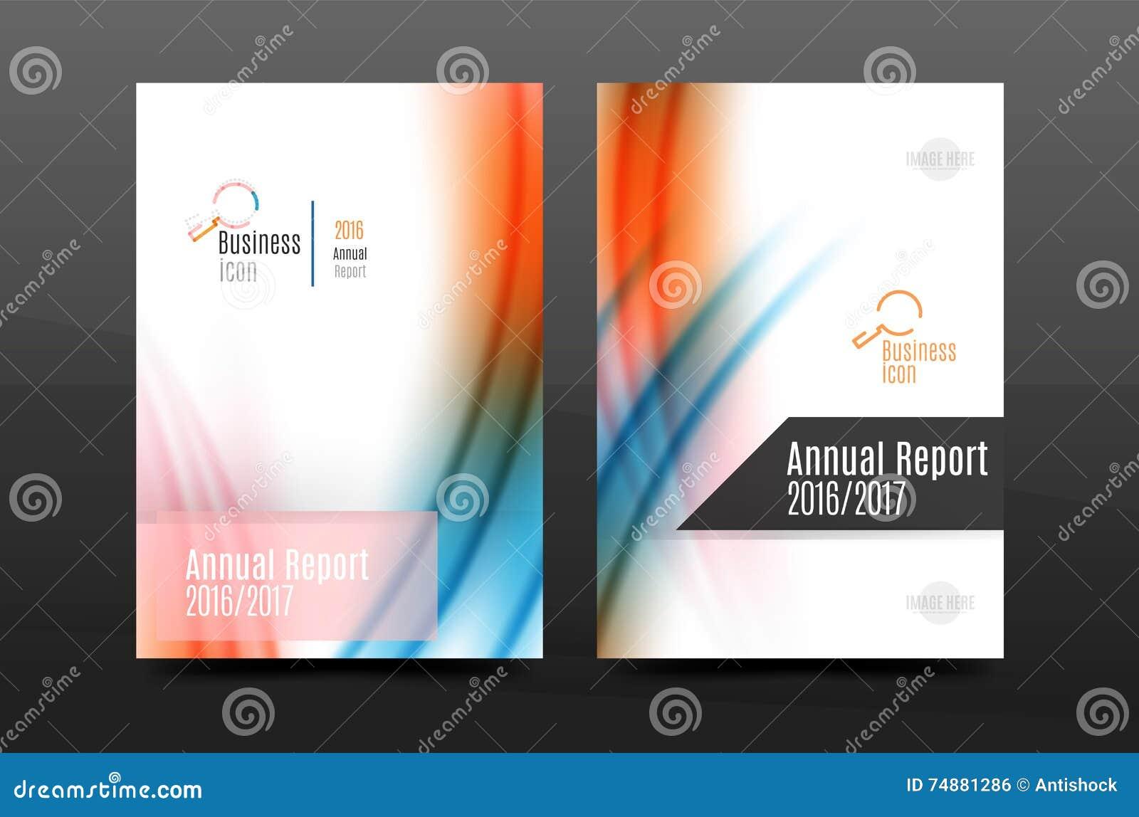 Tampa do inseto do negócio do informe anual do tamanho A4