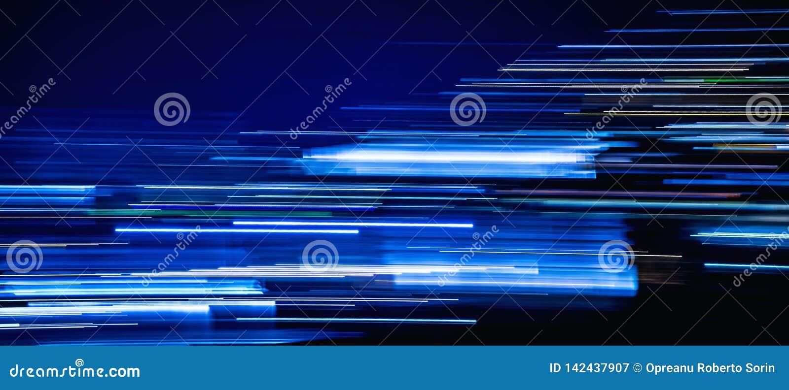 Tampa leve azul do espaço temporal das fugas