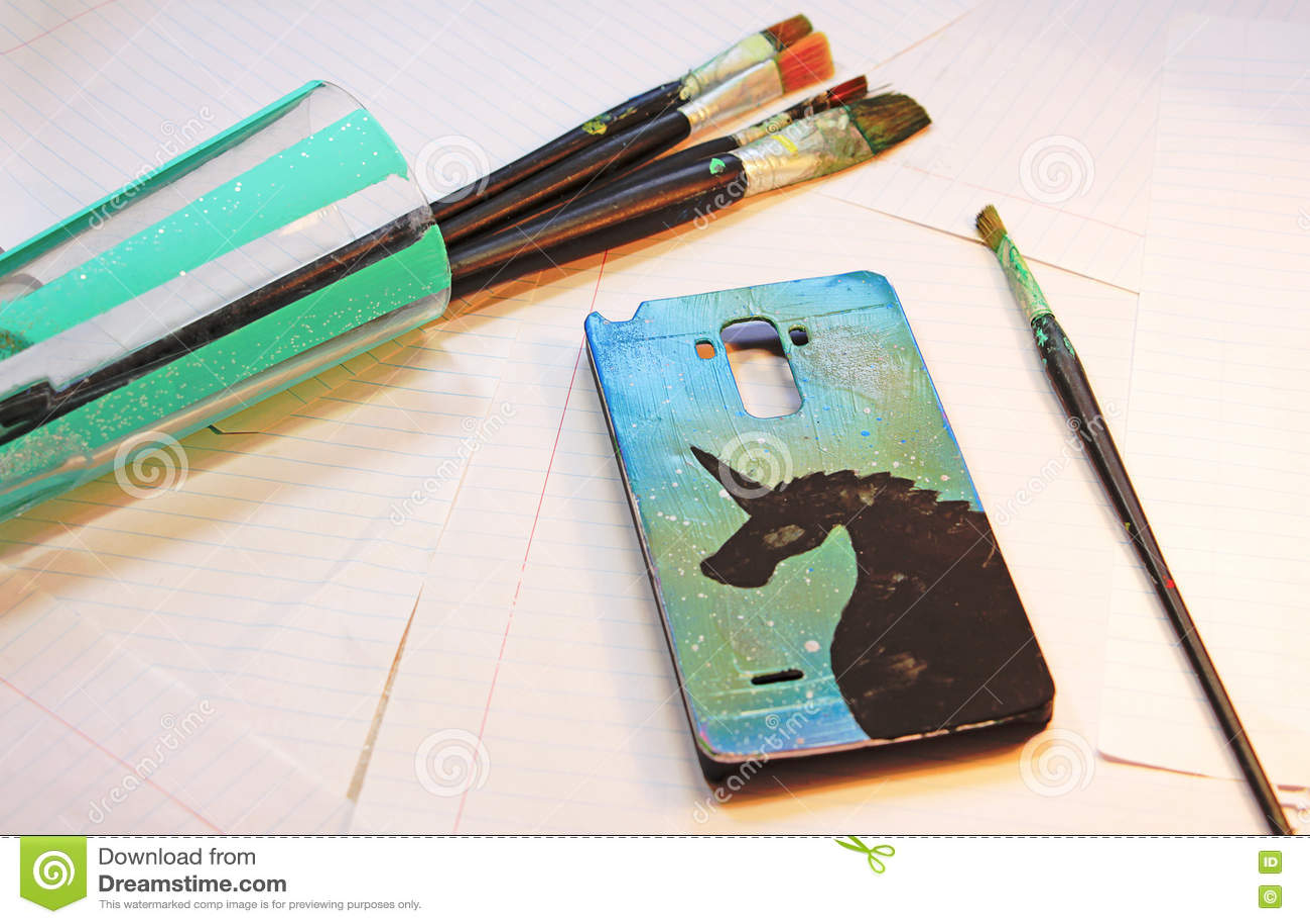 Tampa pintada para o telefone celular