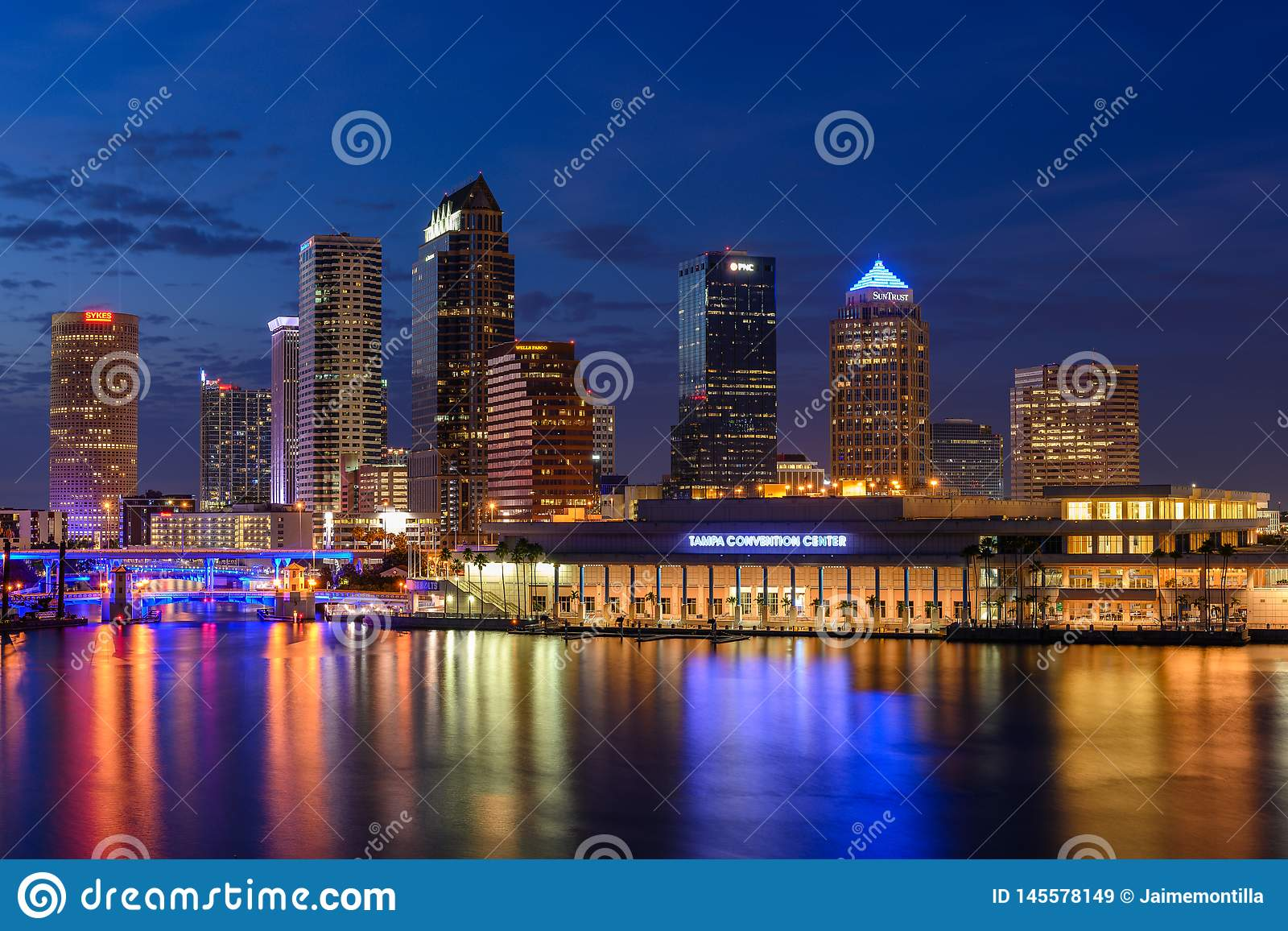 Tampa Skyline at Blue Hour