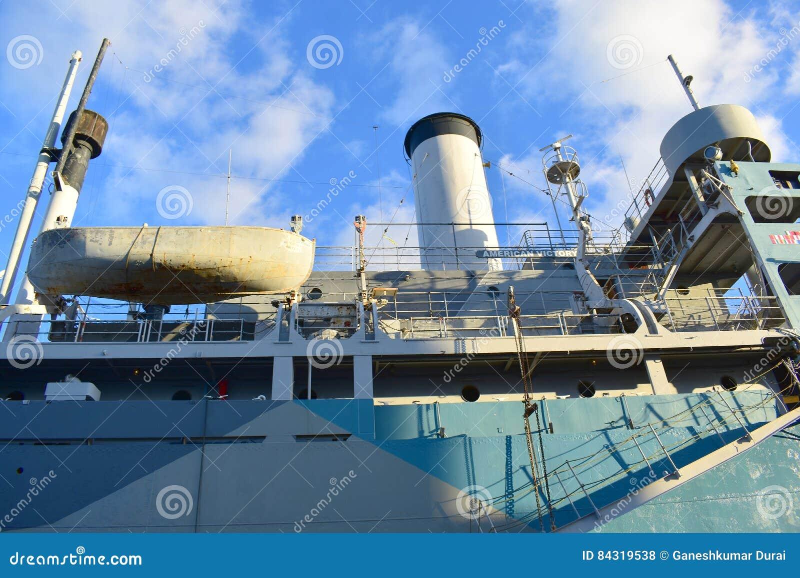 Tamper, Florida - de V.S. - 07 Januari, 2016: SS Amerikaanse Victory Memorial Ship