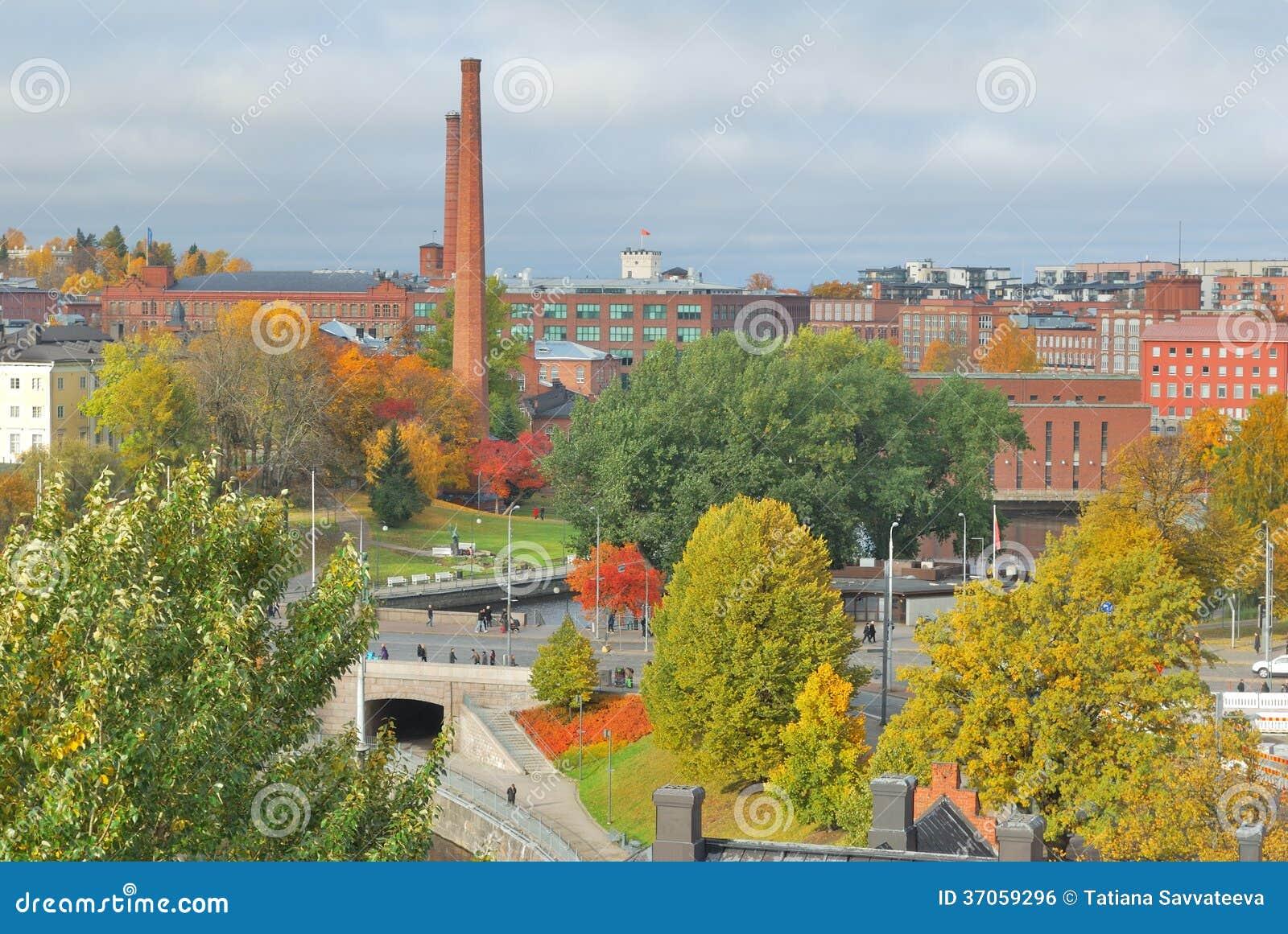 Tampere, Finland. Hoogste-mening van de stad