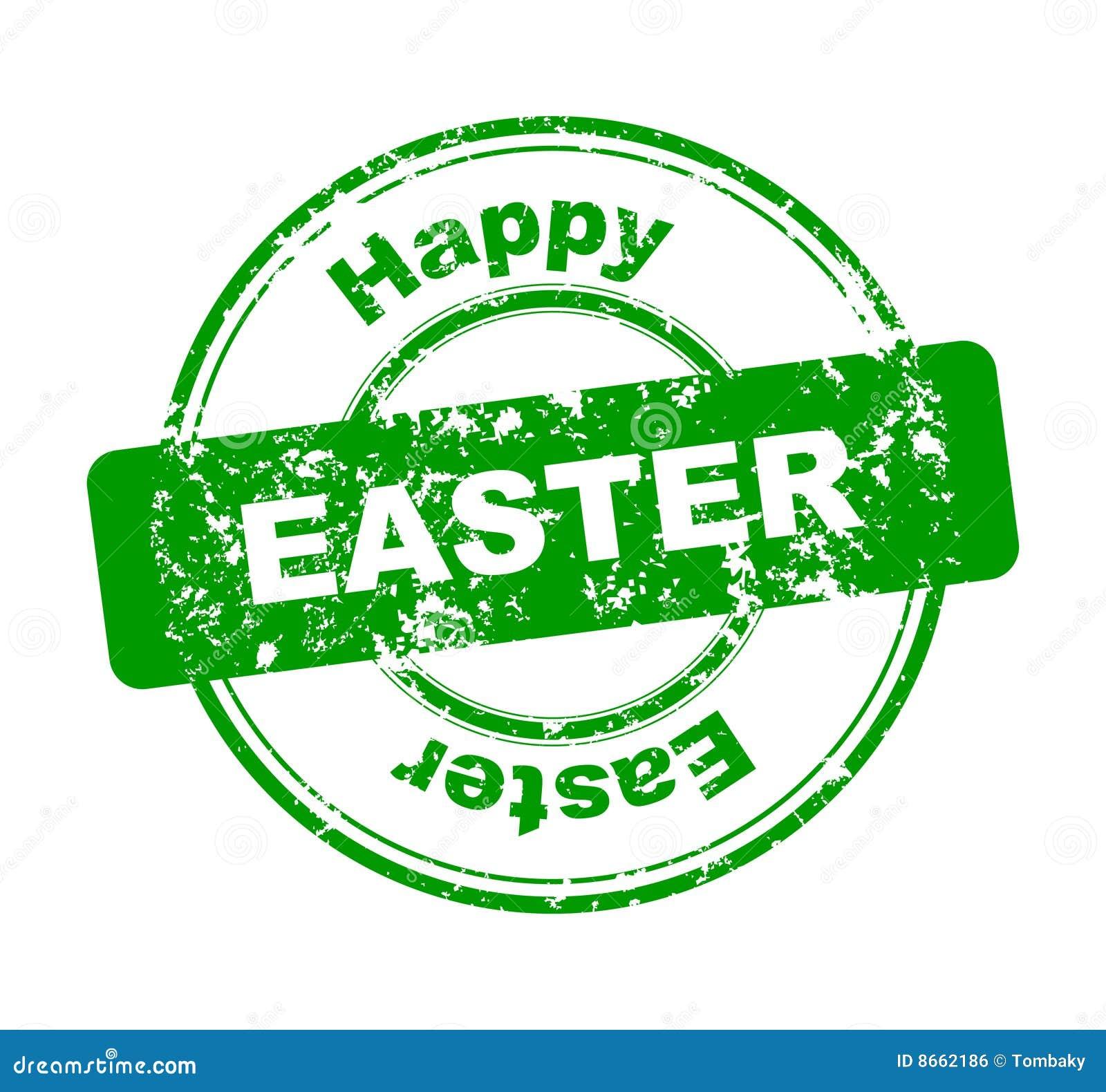 Tampon en caoutchouc avec Joyeuses Pâques