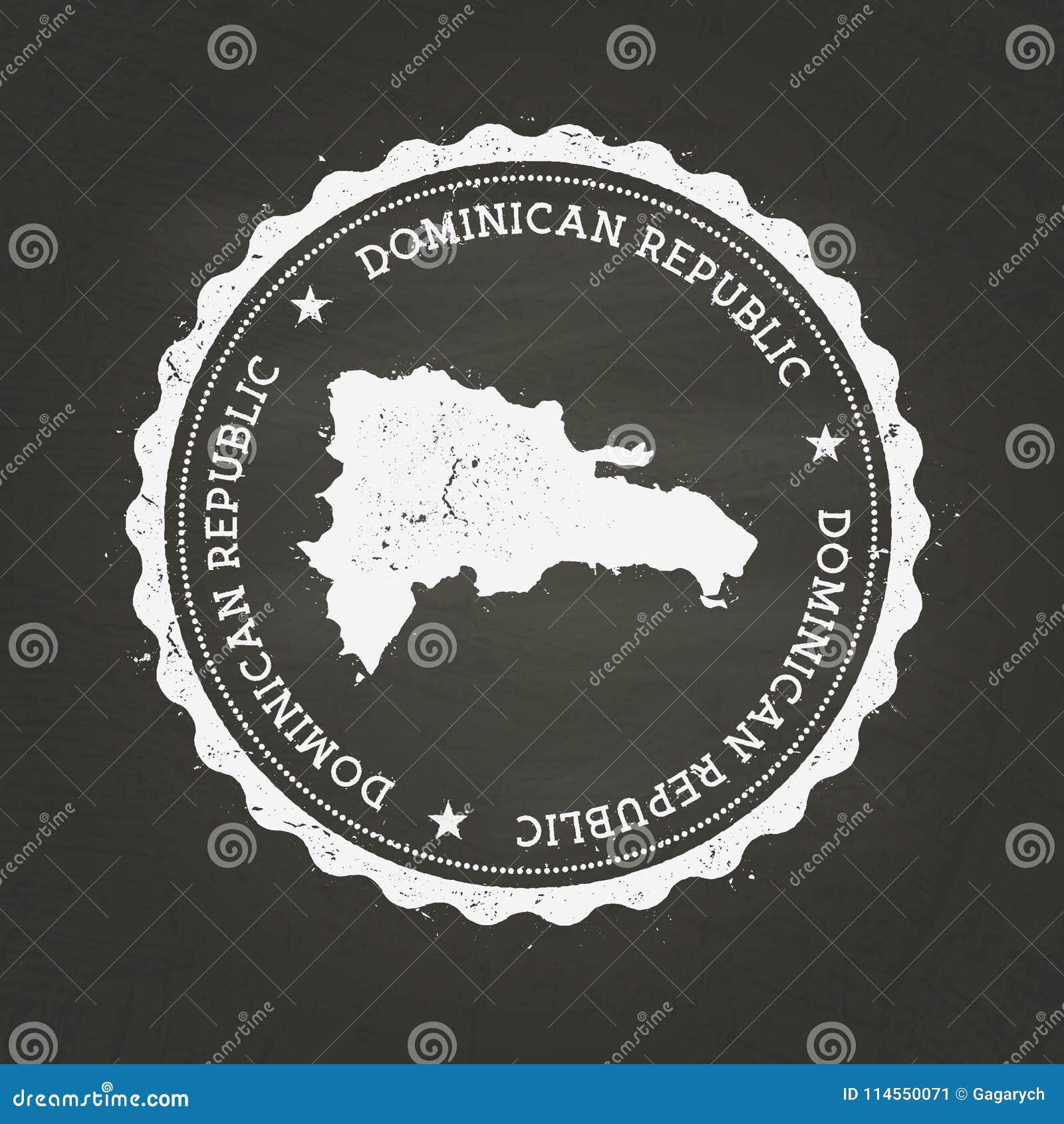 Tampon en caoutchouc blanc de texture de craie avec le Dominicain