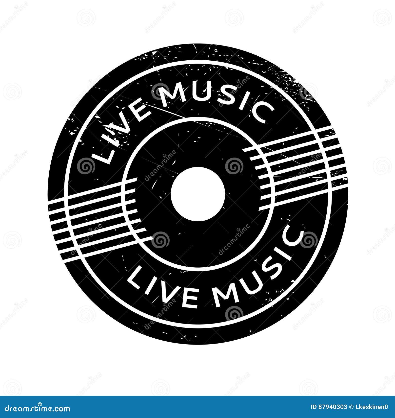 Tampon en caoutchouc de Live Music