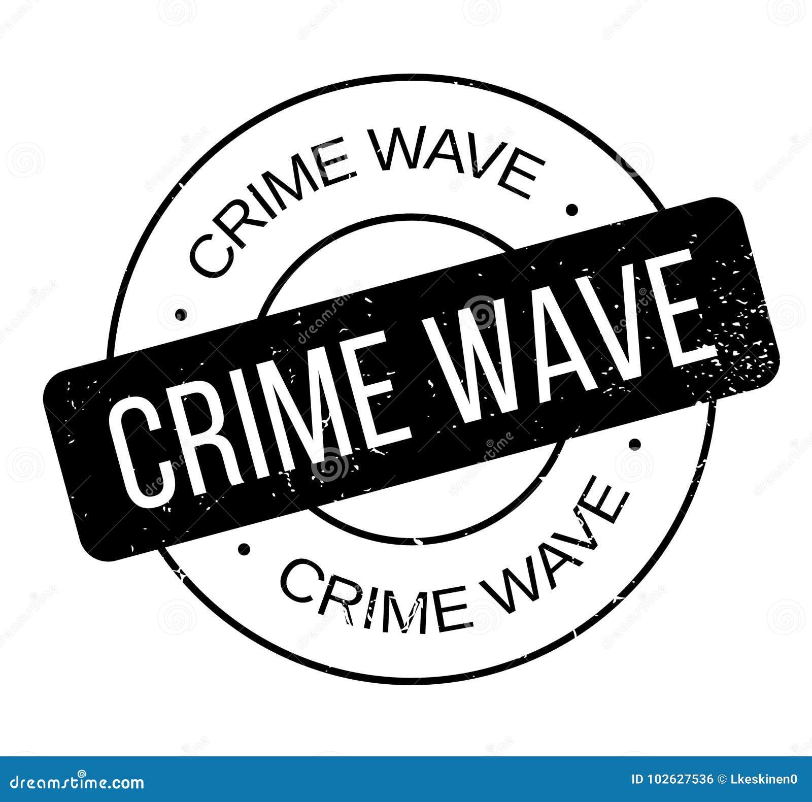 Tampon en caoutchouc de vague de criminalité