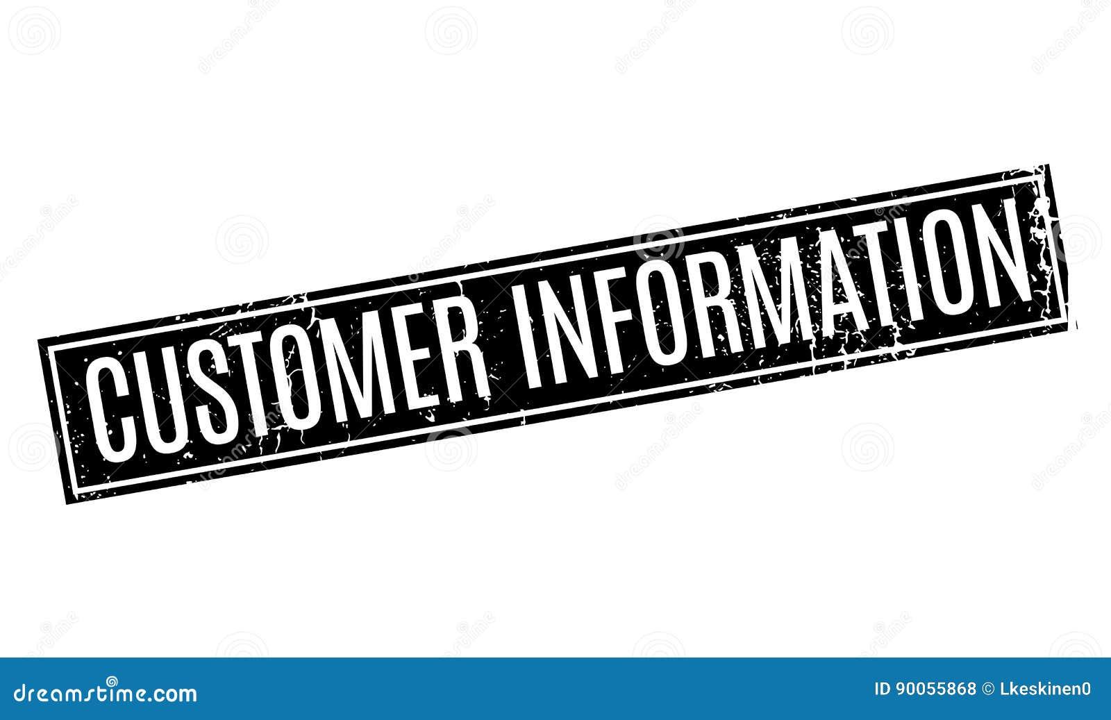 Tampon En Caoutchouc Des Informations Clients Illustration