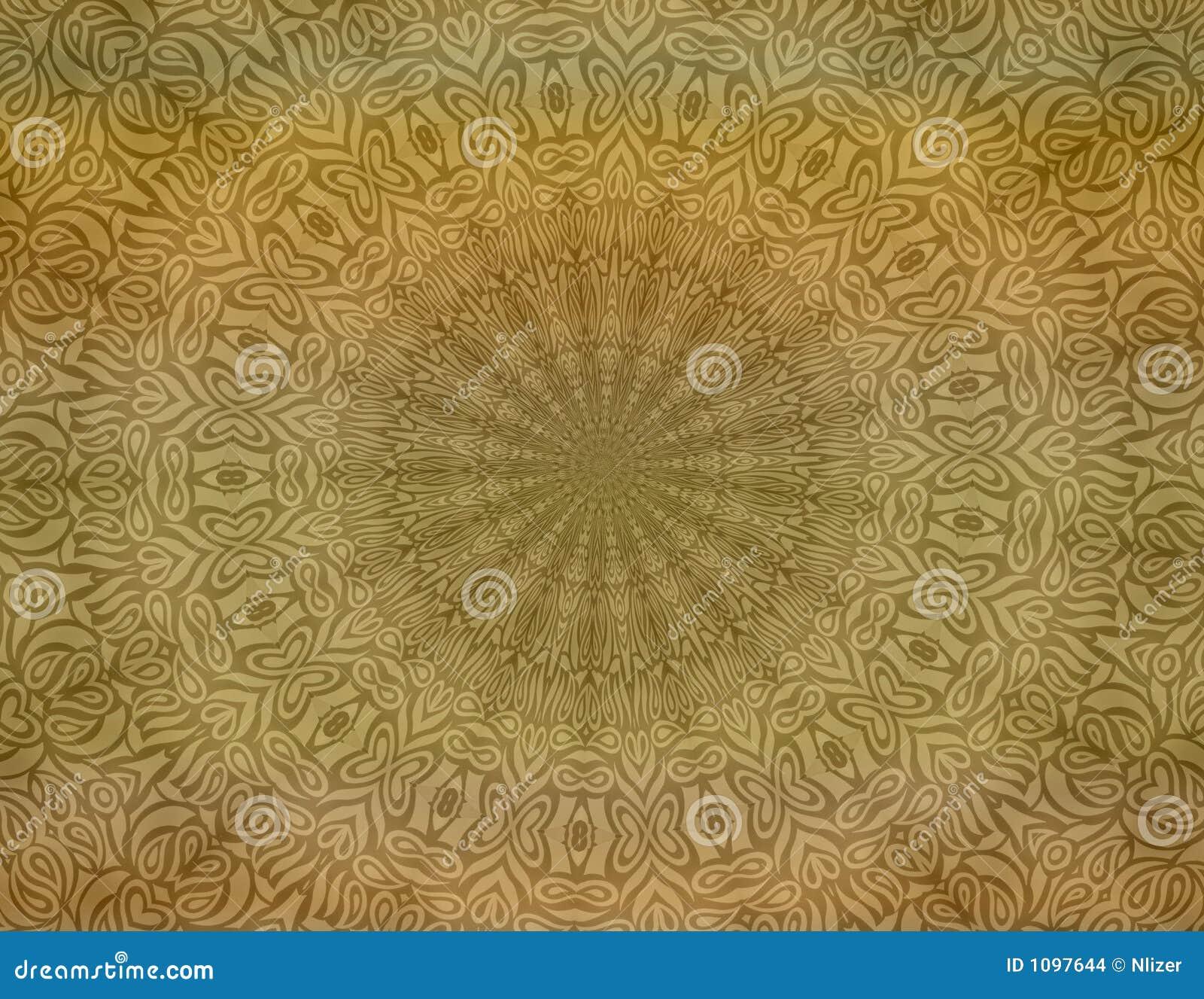 Tan Batik Background Wallpaper Stock Illustration