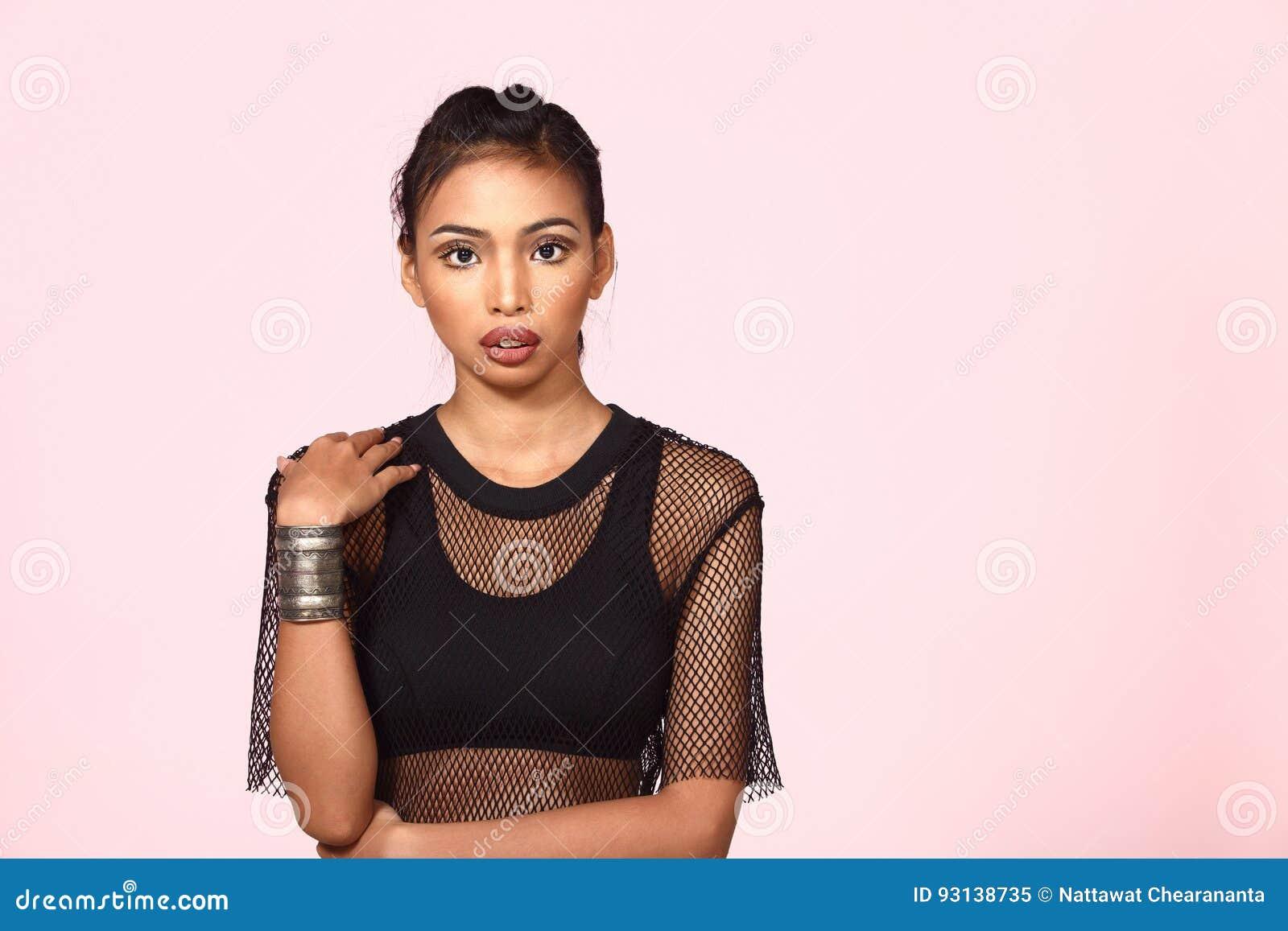 aecfaaba07197 Tan Skin Asian Woman In Sport Bra