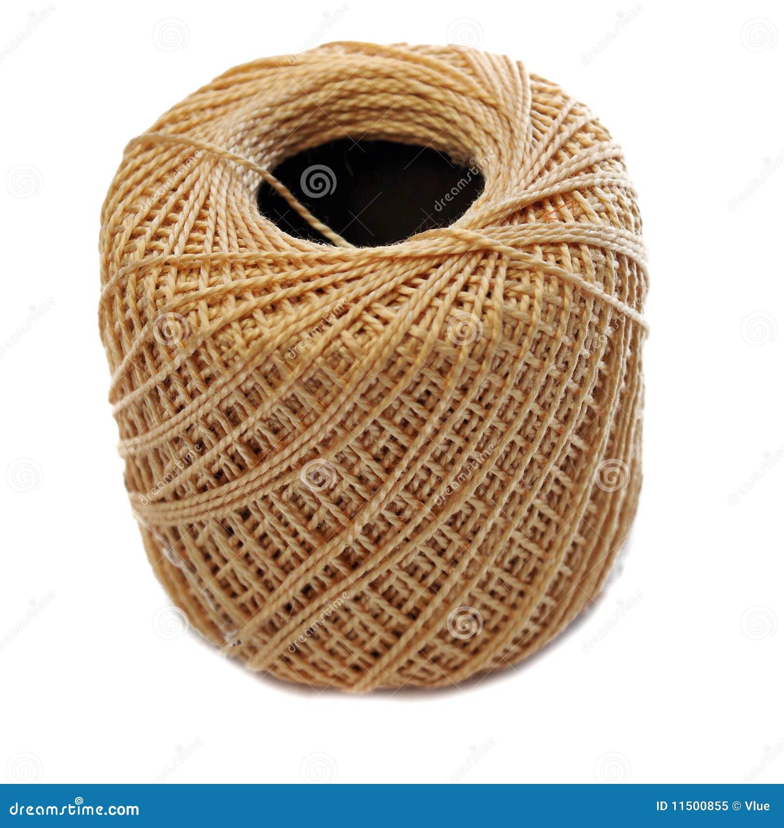 tan yarn spool stock image image of cotton ball isolated 11500855