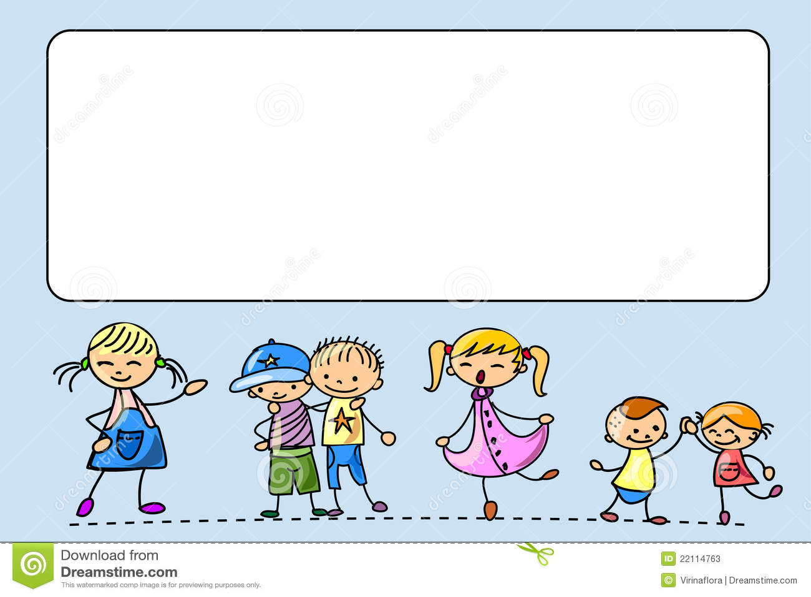 Tana szczęśliwy skoku dzieciaków bieg śpiewa wektor