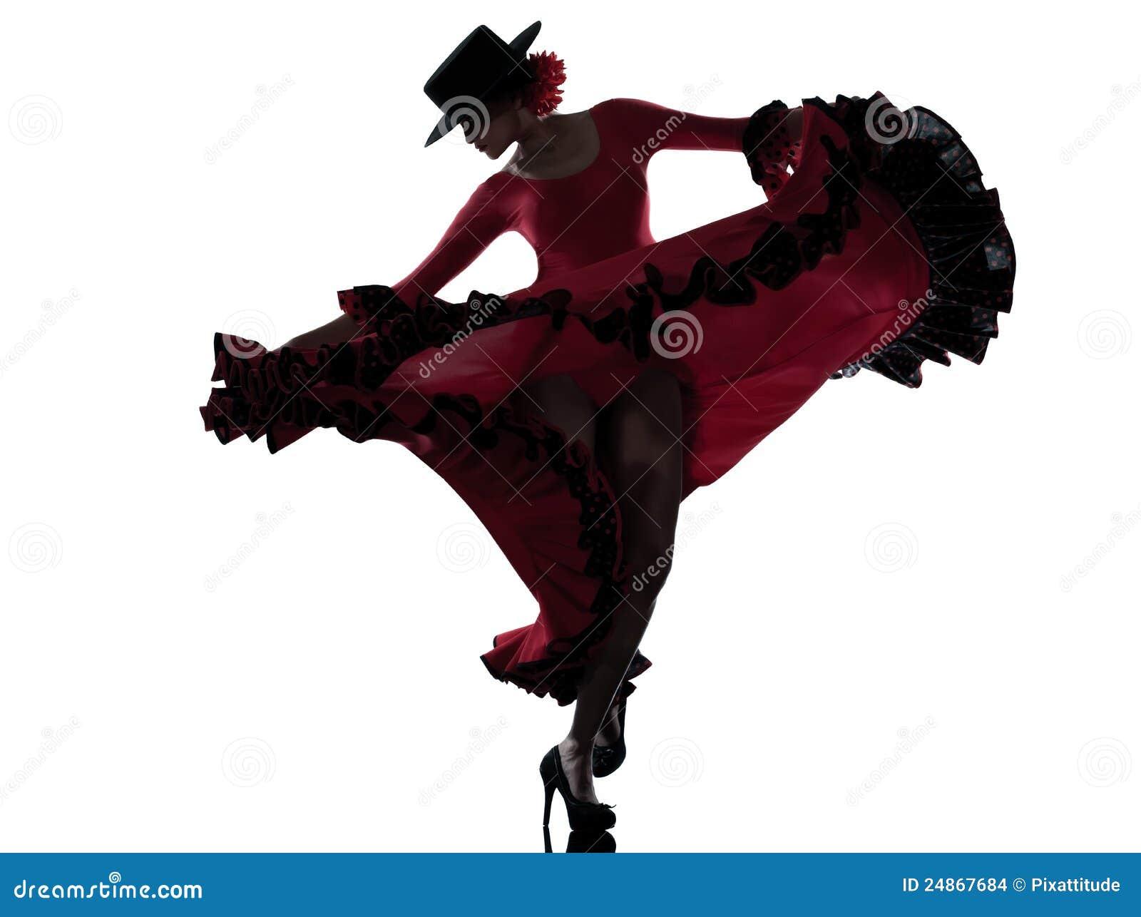 Tancerza dancingowa flamenco cyganu kobieta