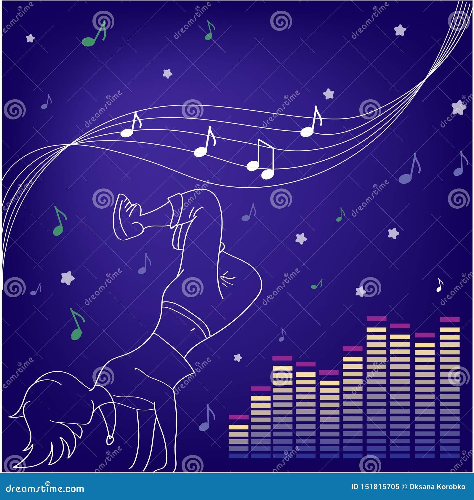 Tanczy muzyk? Sylwetki ludzie tanczy?