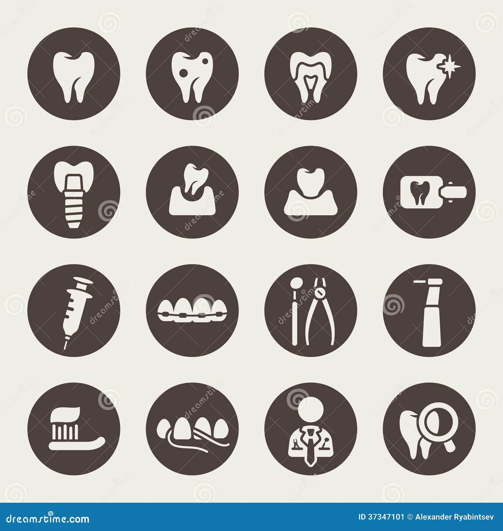 Tand- symbolsuppsättning