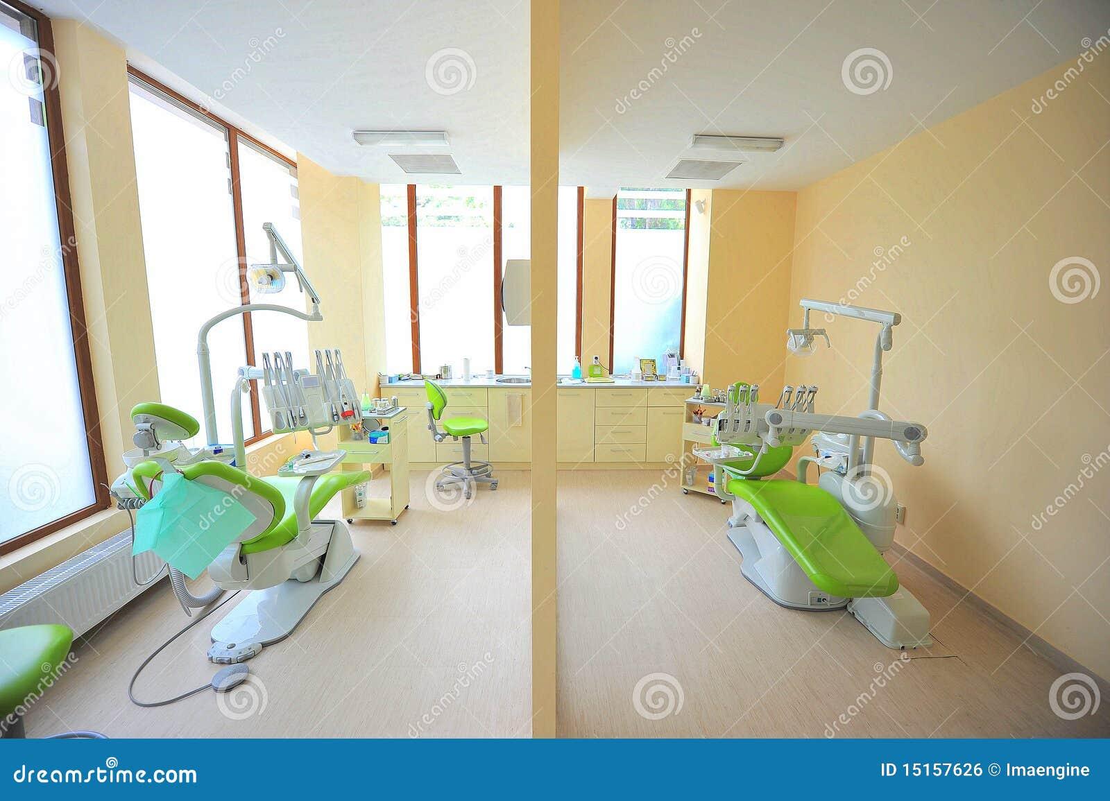 Tand- tvilling- tandläkarekontor för stolar