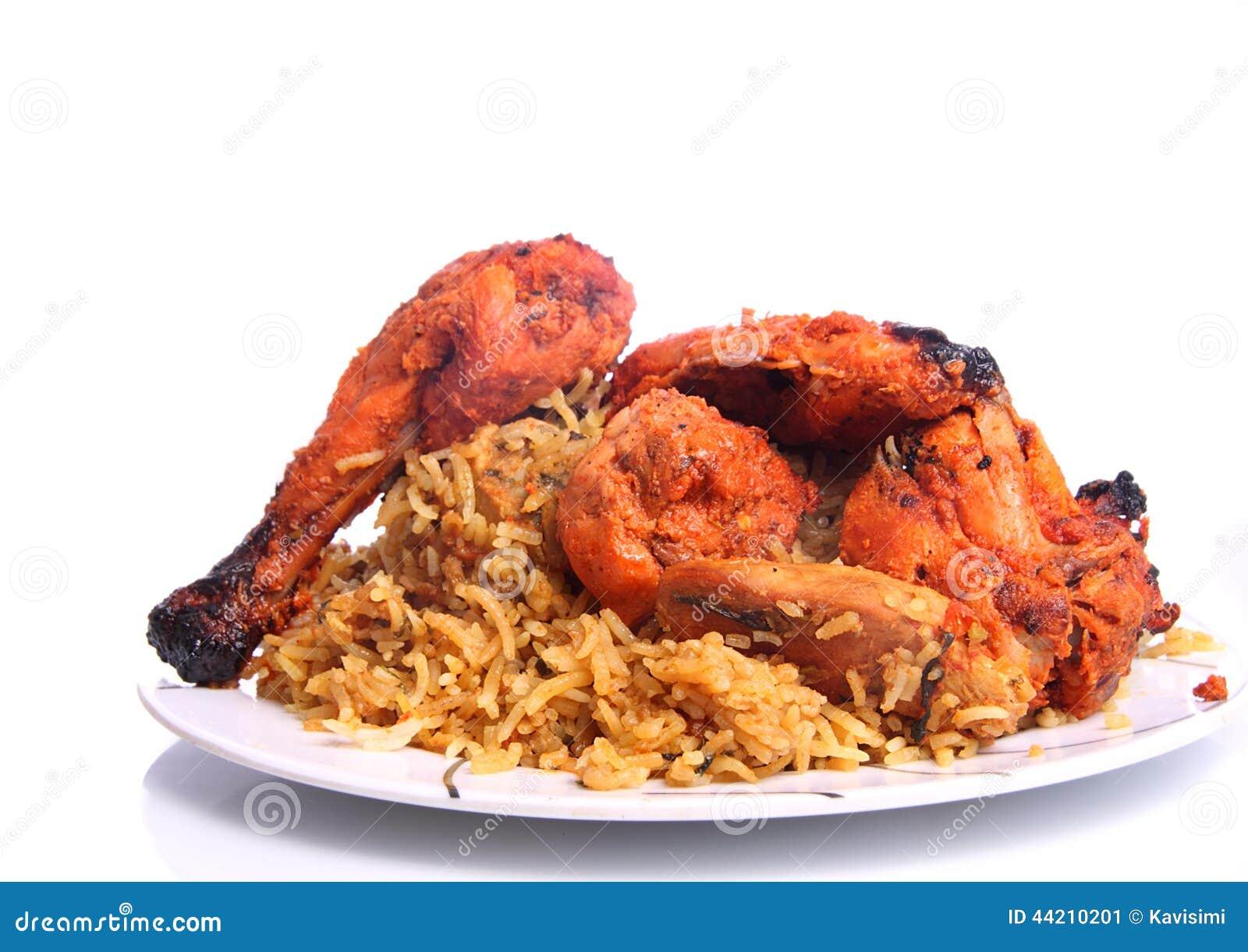 Tandoori Chicken And Chicken Biryani Stock Image
