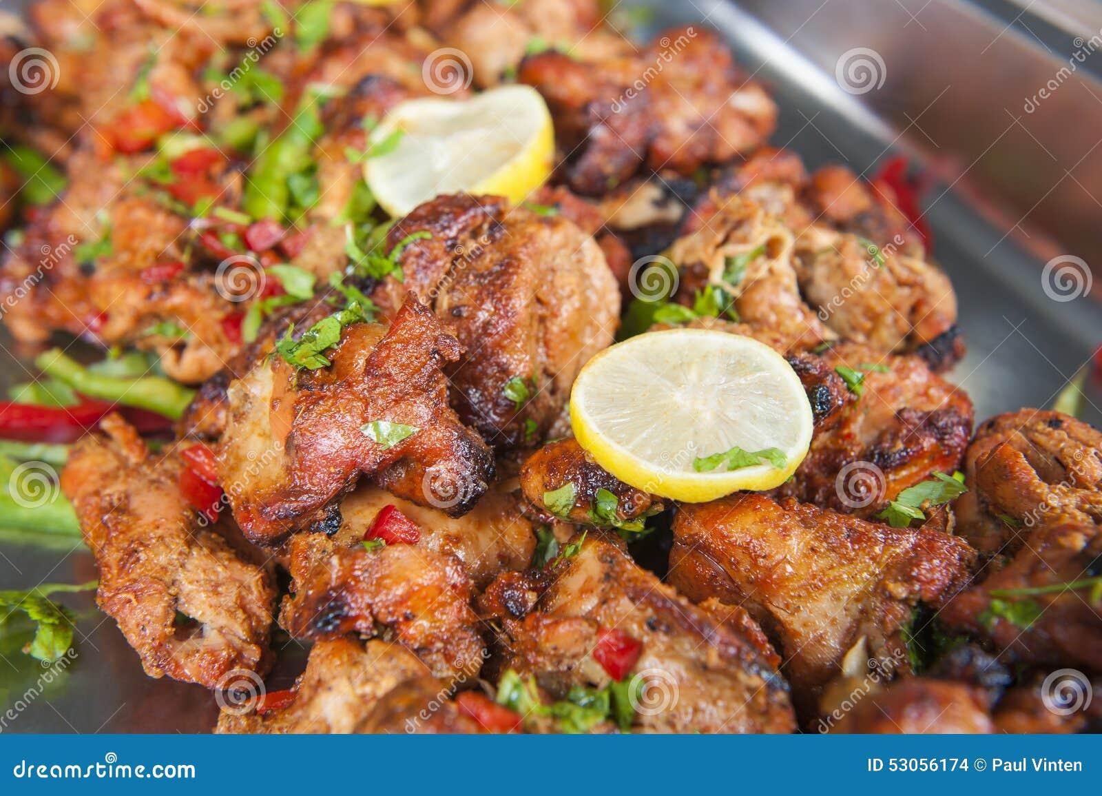 Tandoori Del Tikka Del Pollo En Una Comida Fría India Del ...