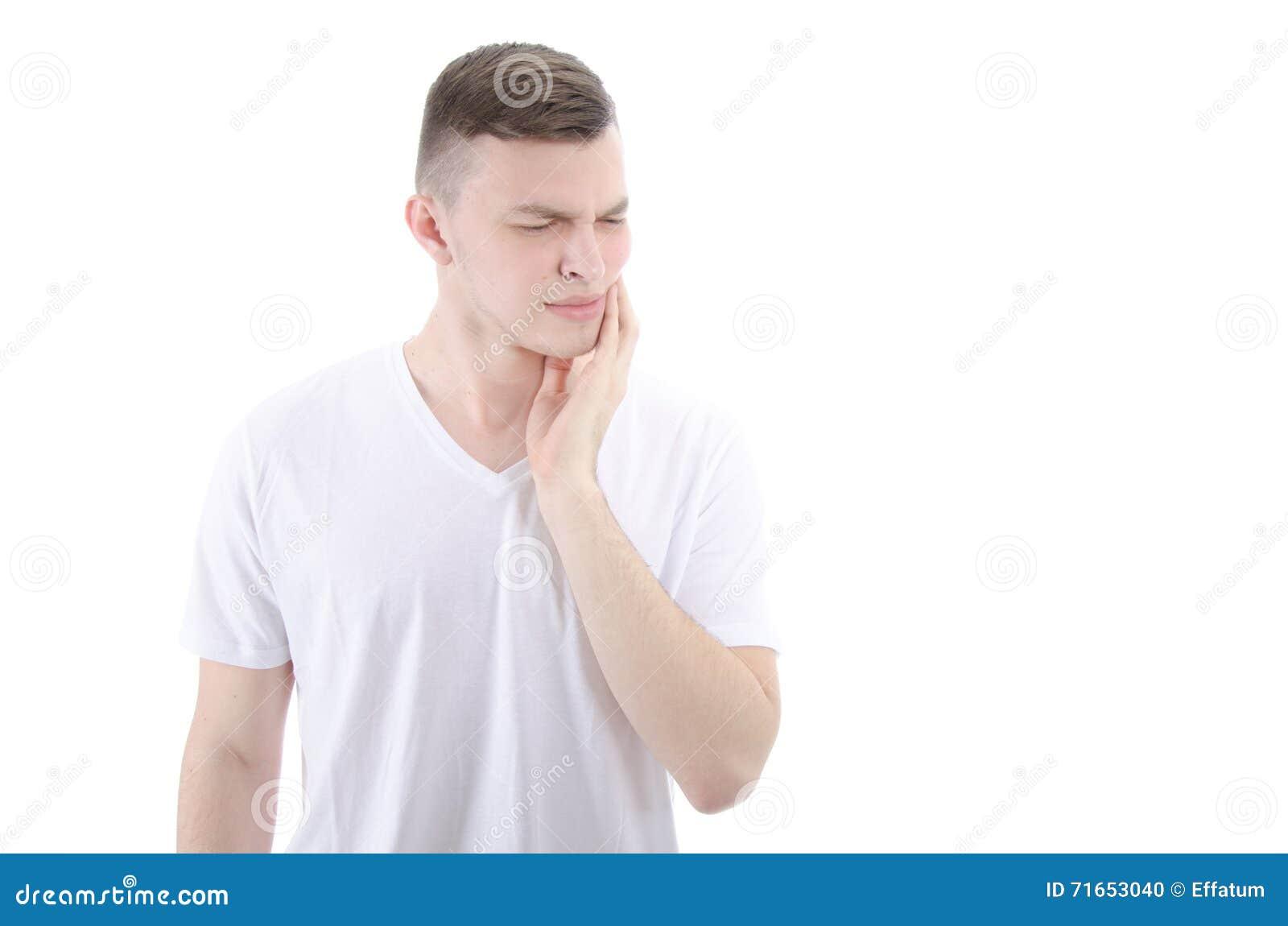 Tandvärk Ung man med tandförfall