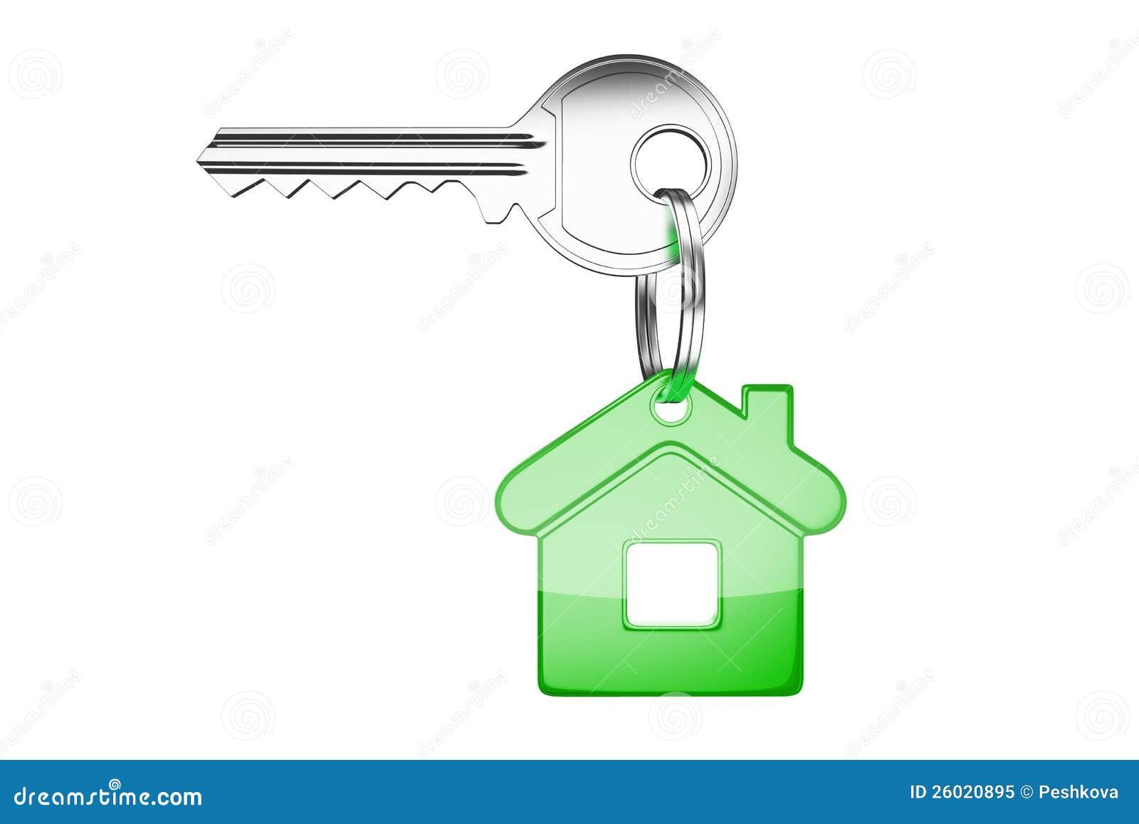 Tangent med den gröna key kedjan