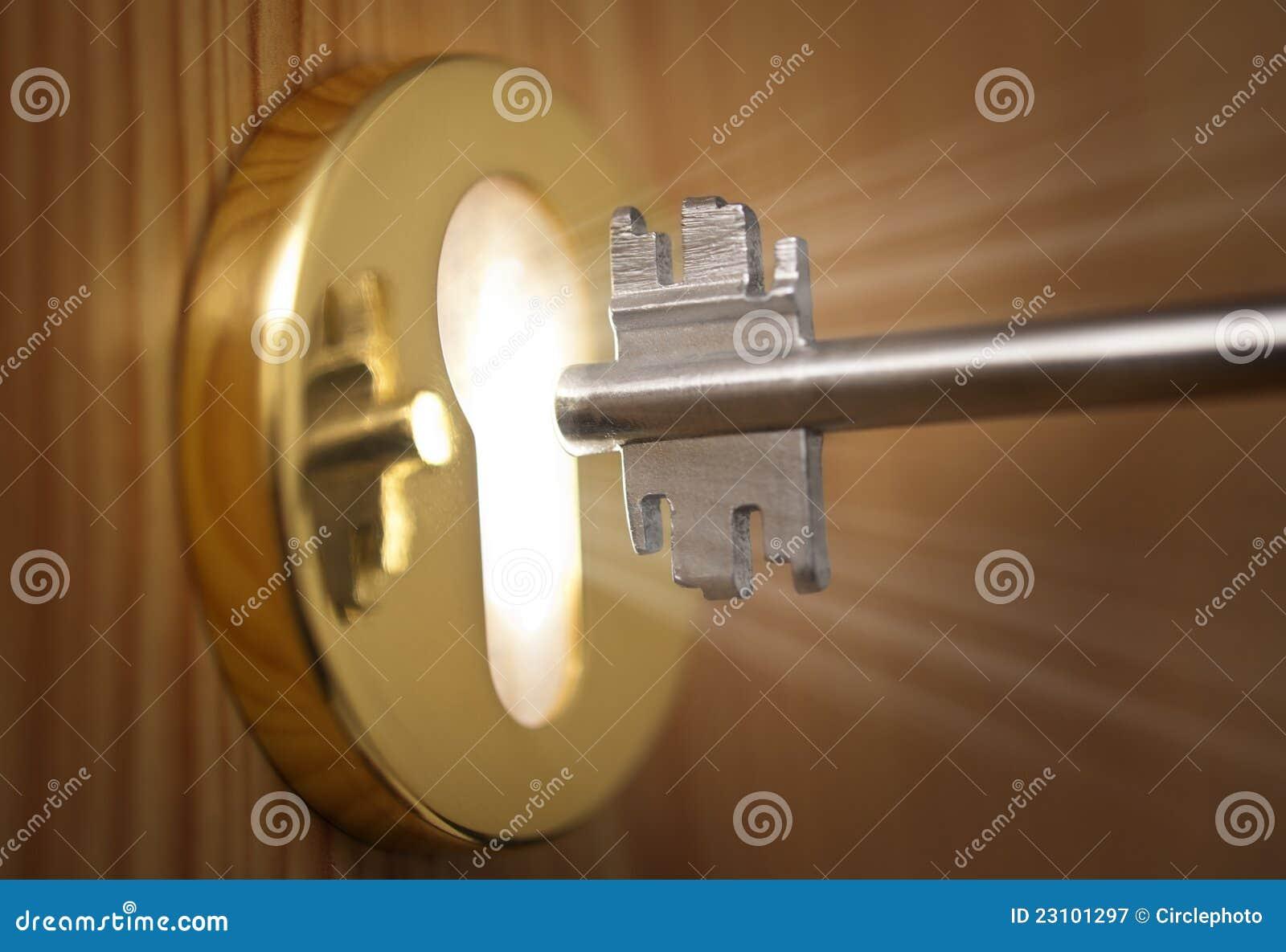 Tangent och keyhole med lampa