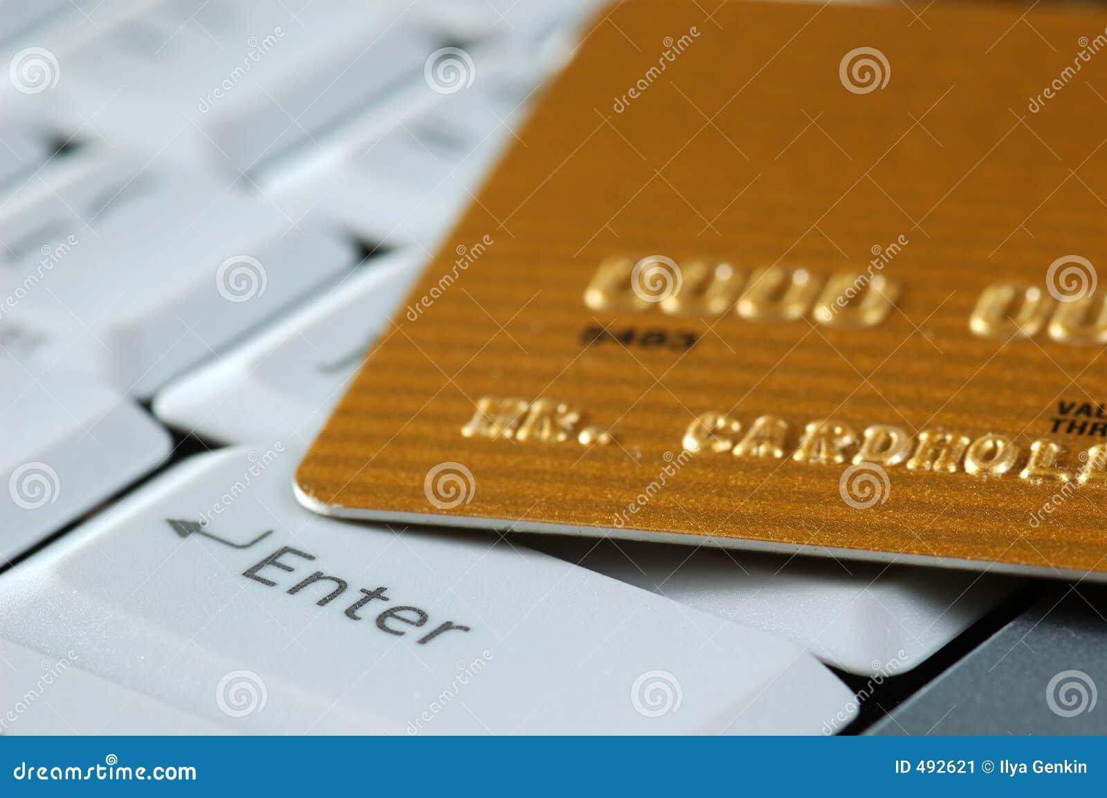 Tangentbord för kortkrediteringsguld