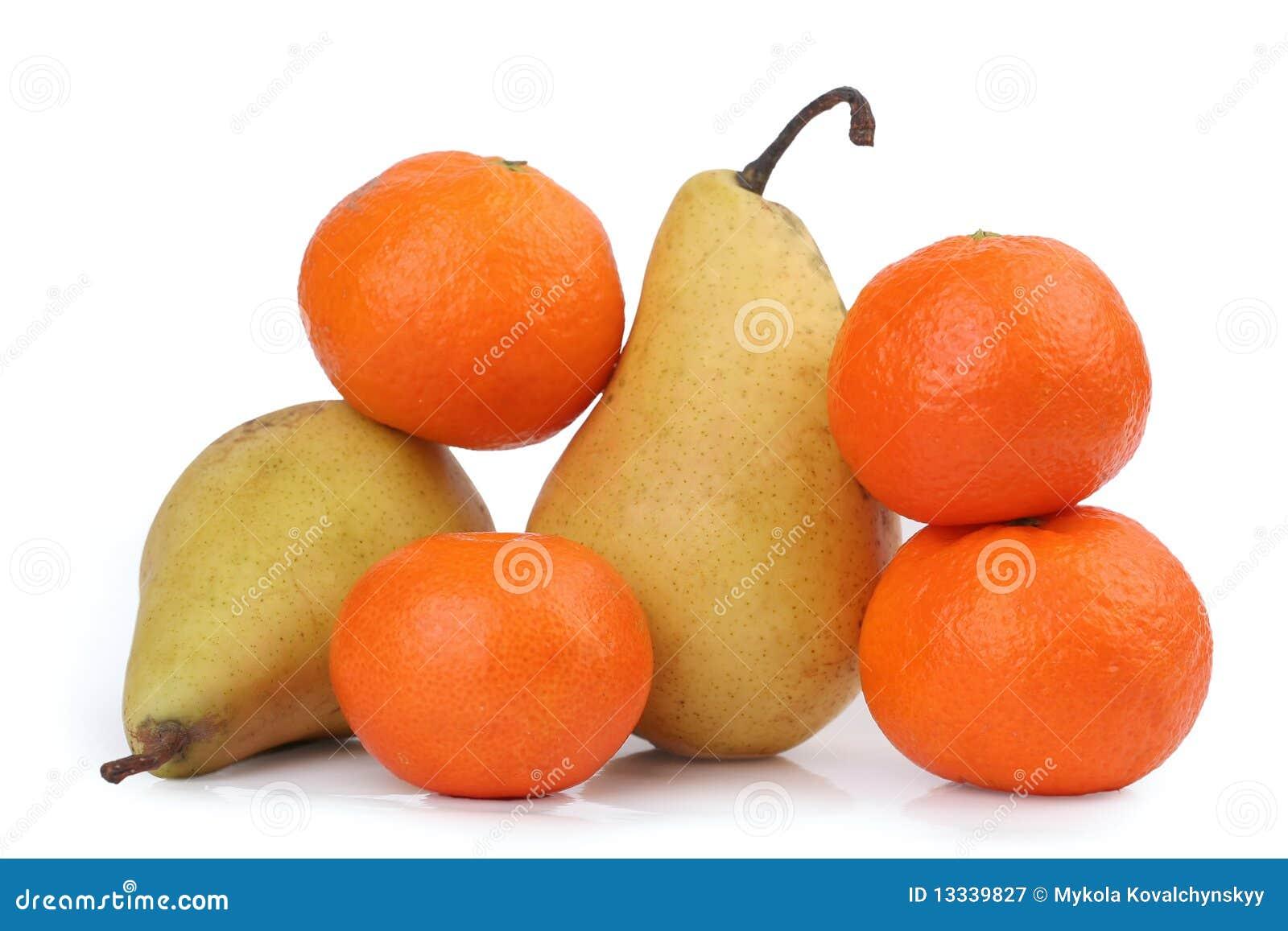 Tangerine eine Birne