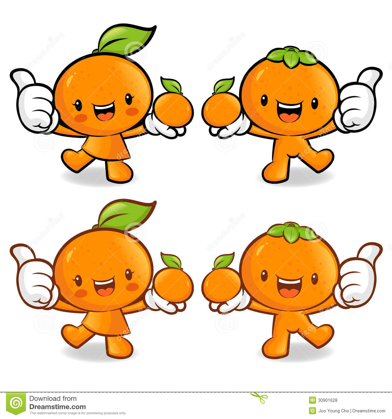 Tangerine And Orange Couple Characters To Promote Fruit ...
