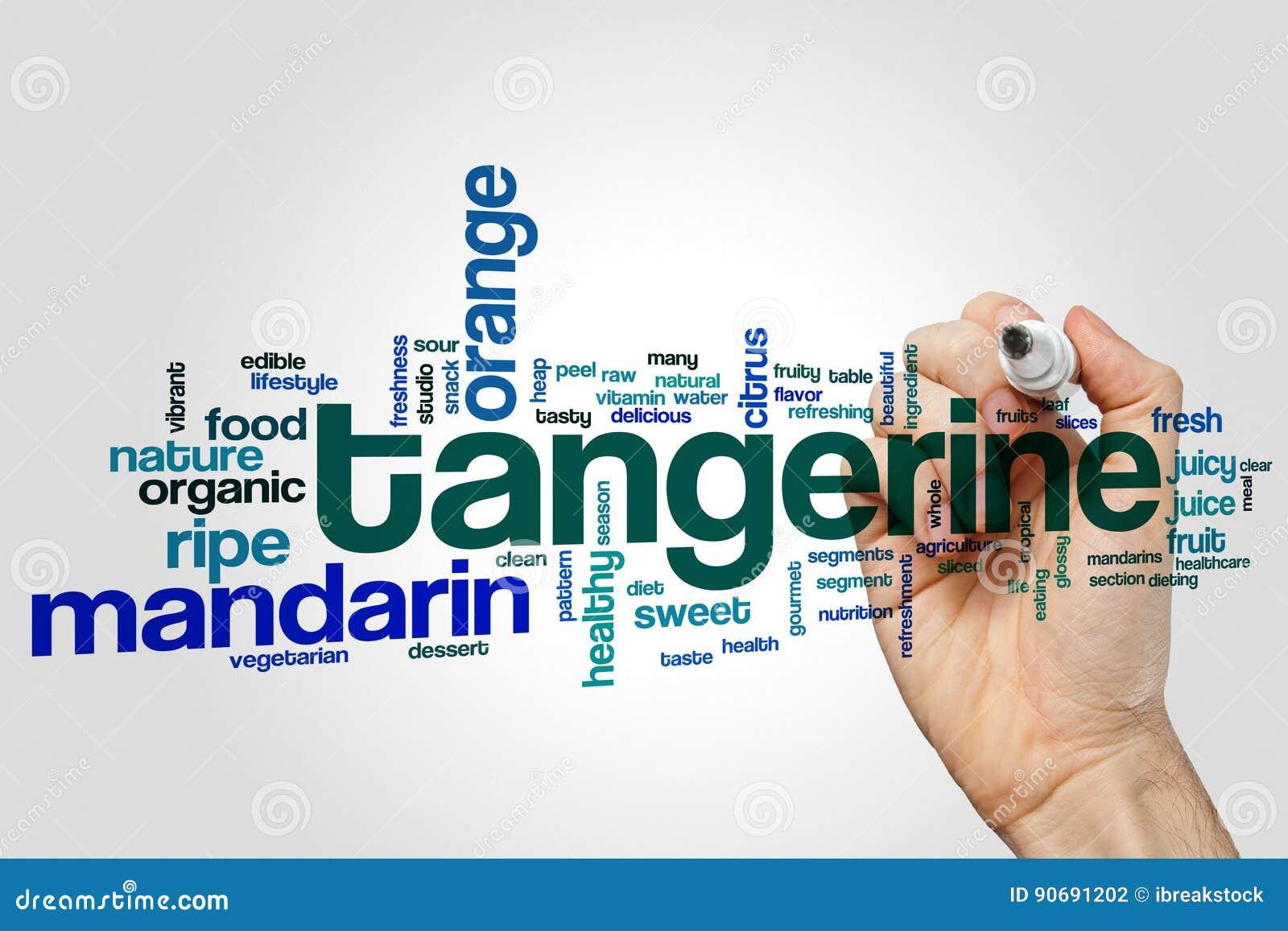 Tangerine word cloud
