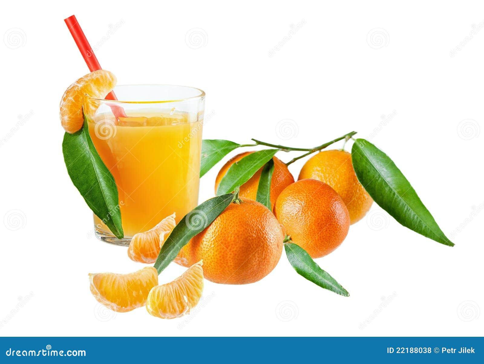 Tangerines χυμού γυαλιού