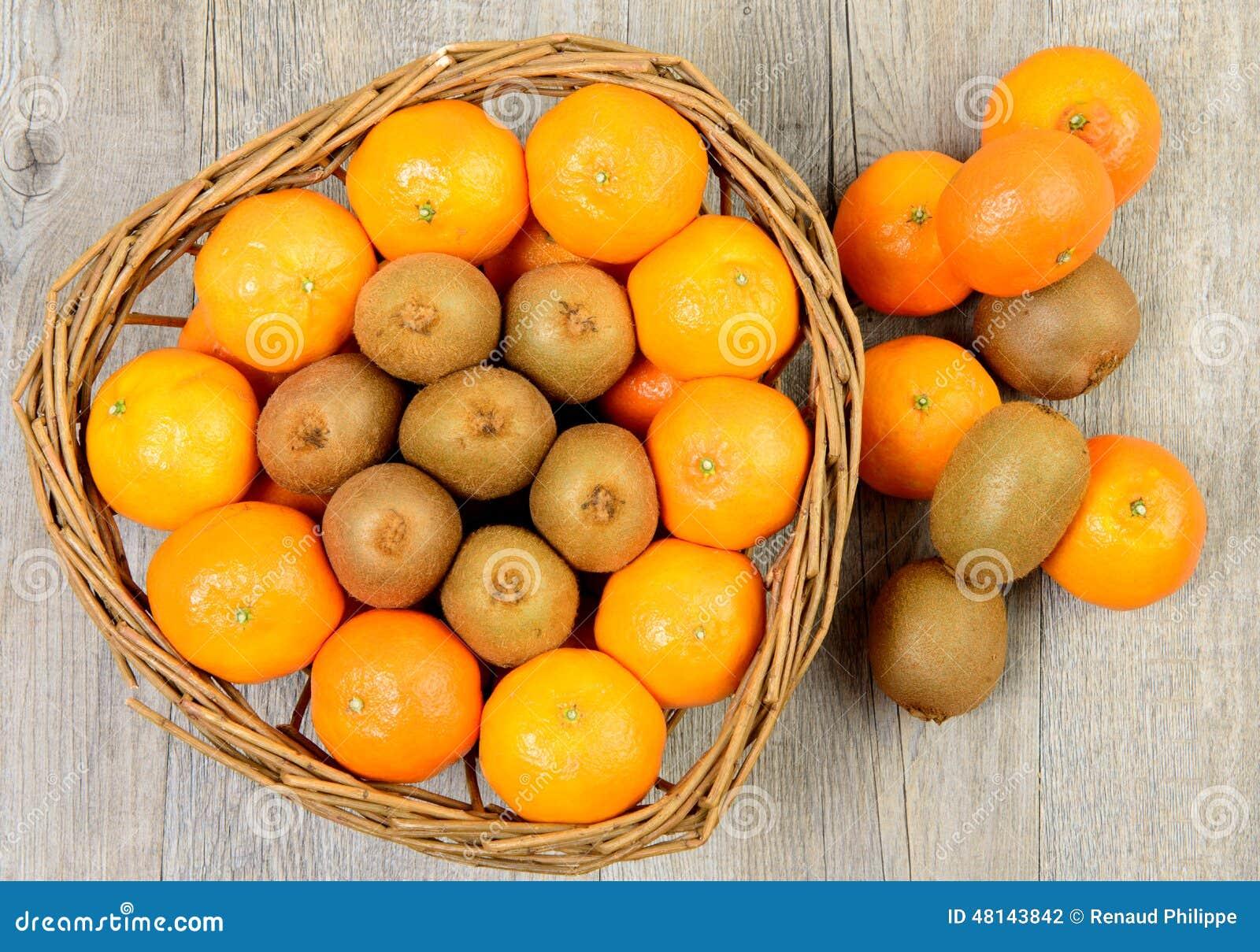 Tangerins and kiwis