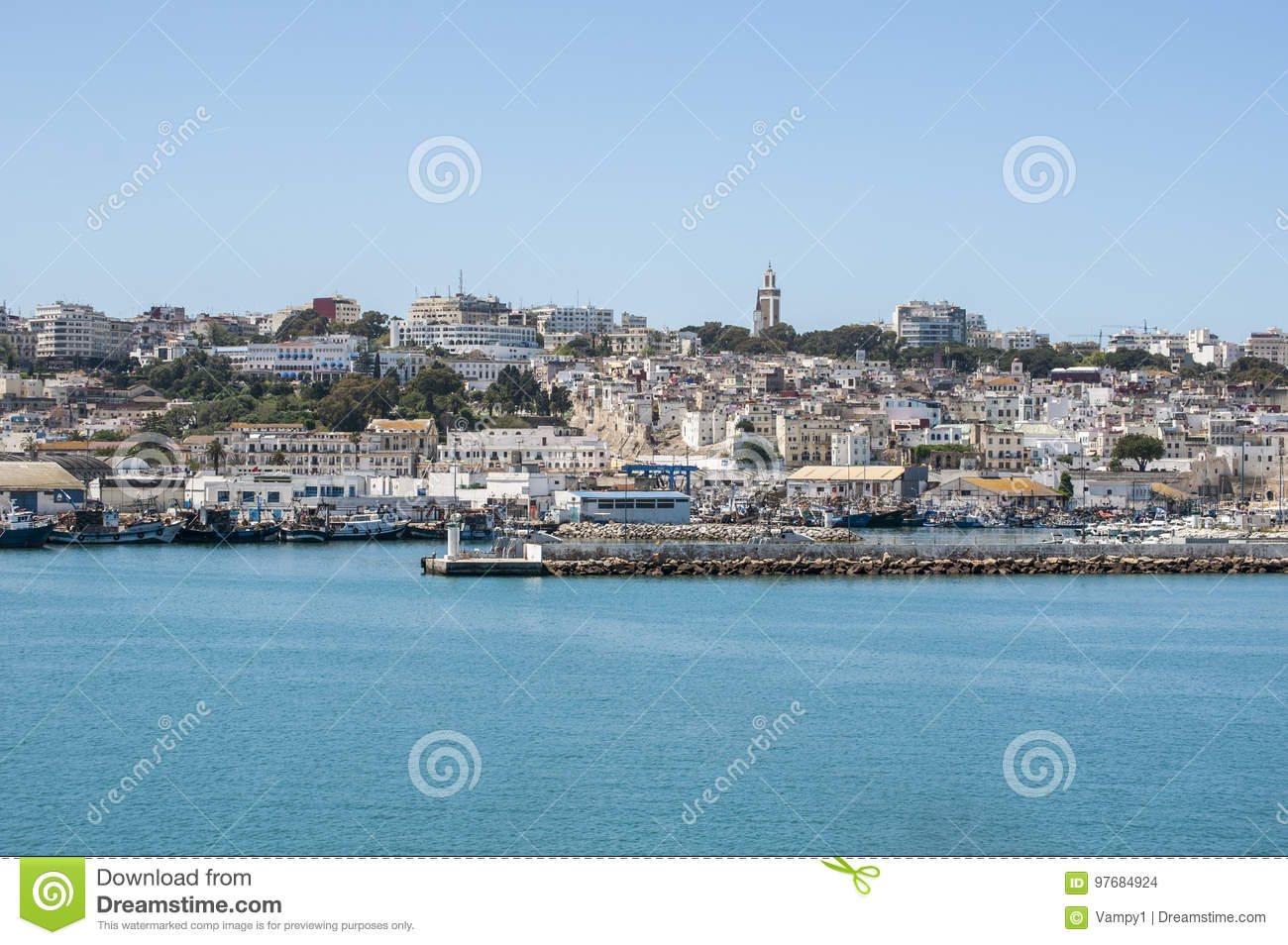 Tangier tangiers tanger morocco africa north africa - Moroccan port on the strait of gibraltar ...