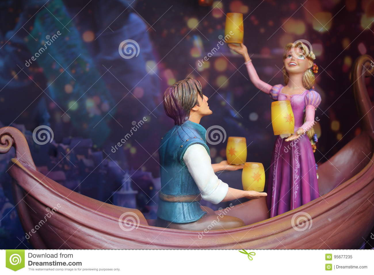 Tangled Figurines Editorial Image Image Of Boat Toys 95677235