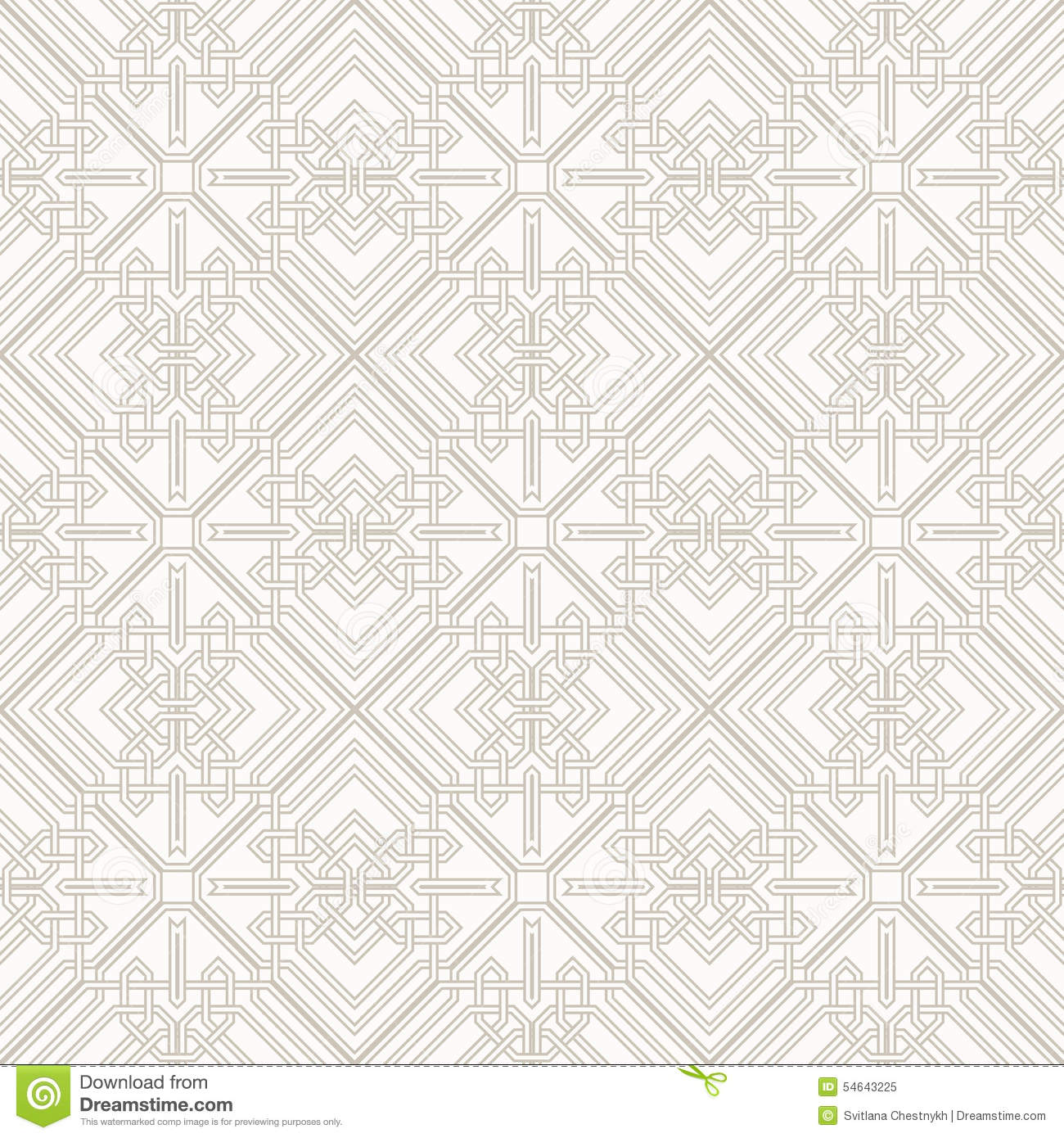Tangled Pattern Based On Traditional Arabic Stock Vector ... for Modern Arabic Pattern Vector  288gtk