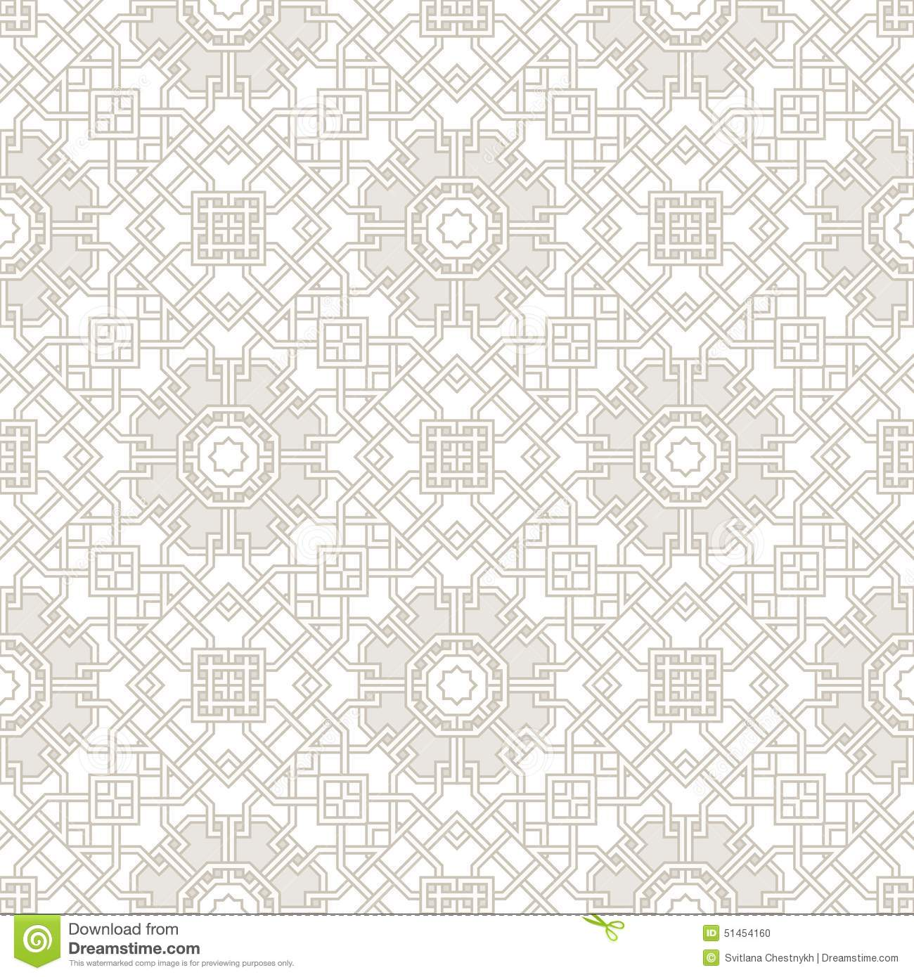 Tangled Pattern in oriental style, seamless