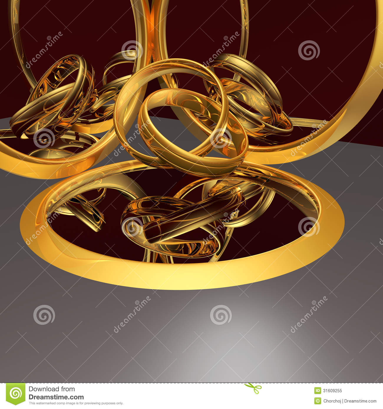 Tangled Wedding Rings Between Mirrors Royalty Free Stock Photo Image 31609255