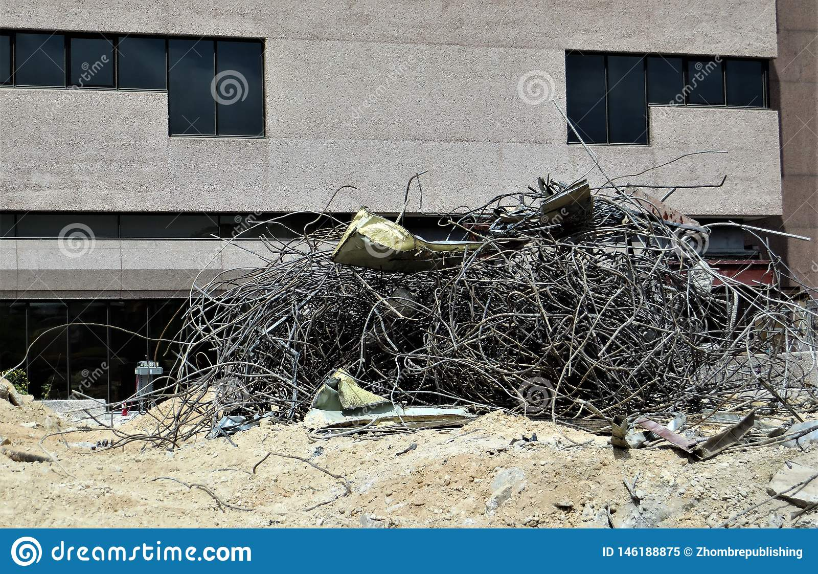 Tangled Wiring At Demolition Site Stock Image - Image of ... on