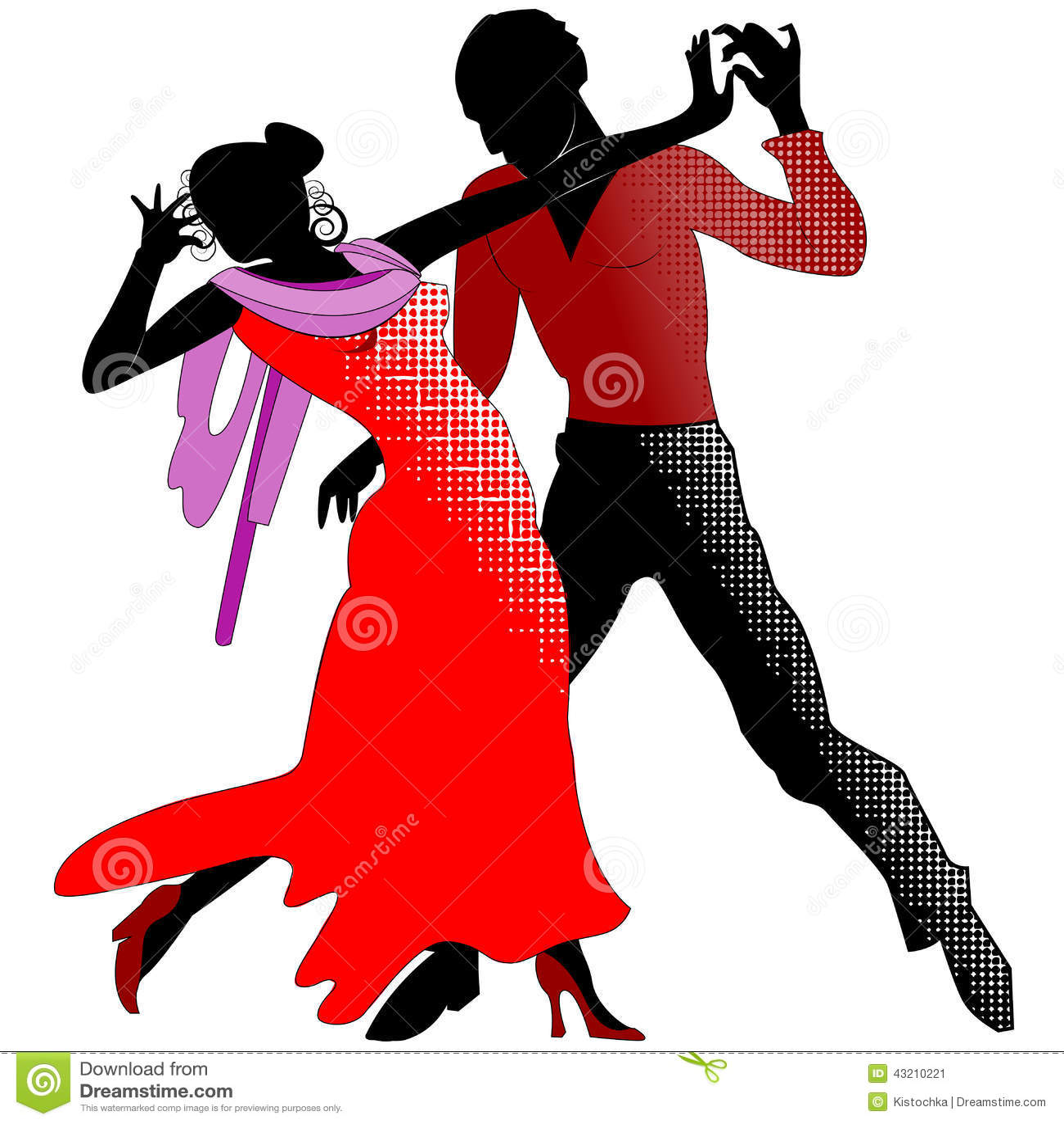tango  silhouettes en rouge illustration de vecteur ballroom dancing clip art free Cartoon Ballroom Dancing