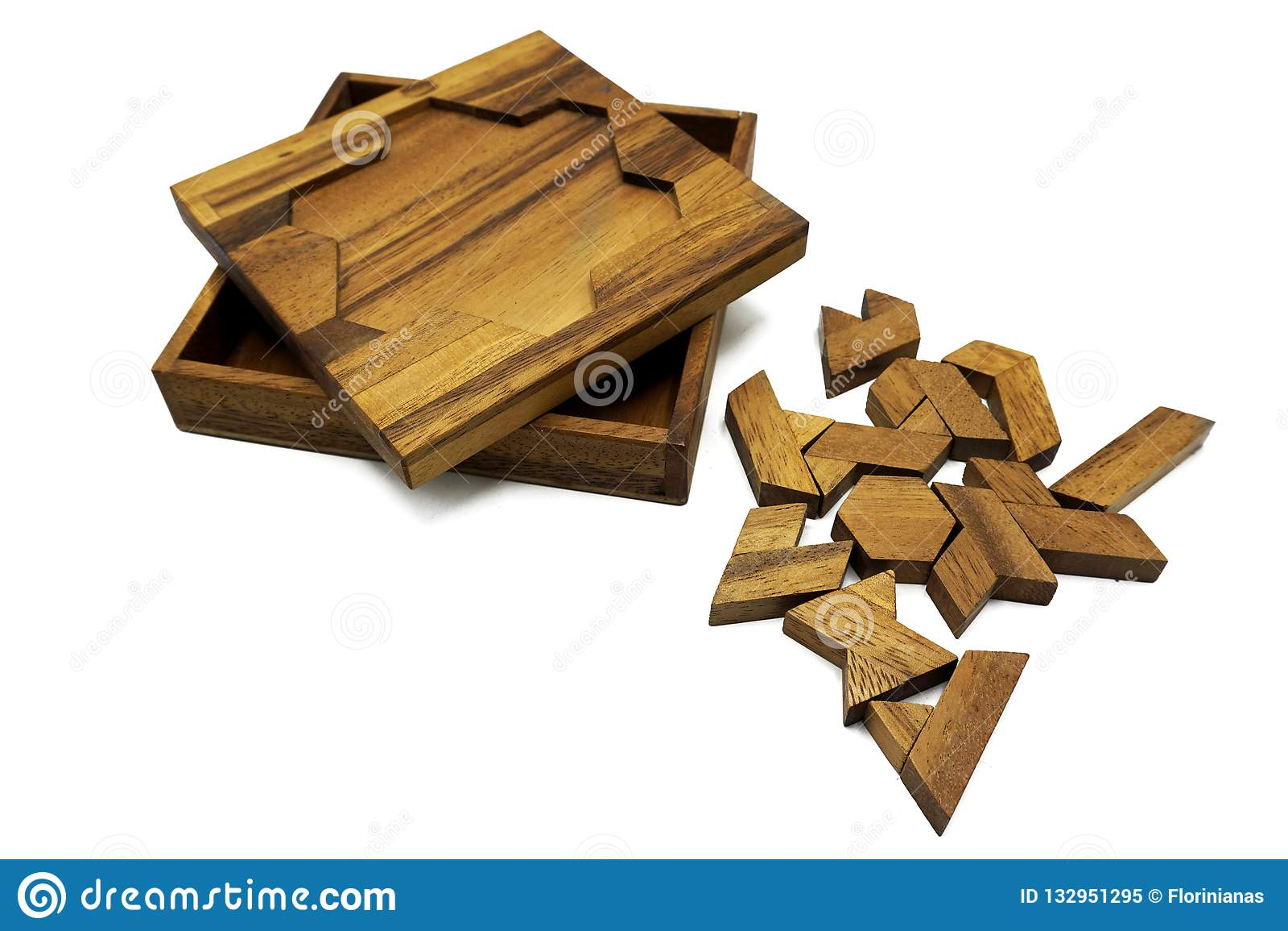 Tangram, chinesisches traditionelles Rätselspiel