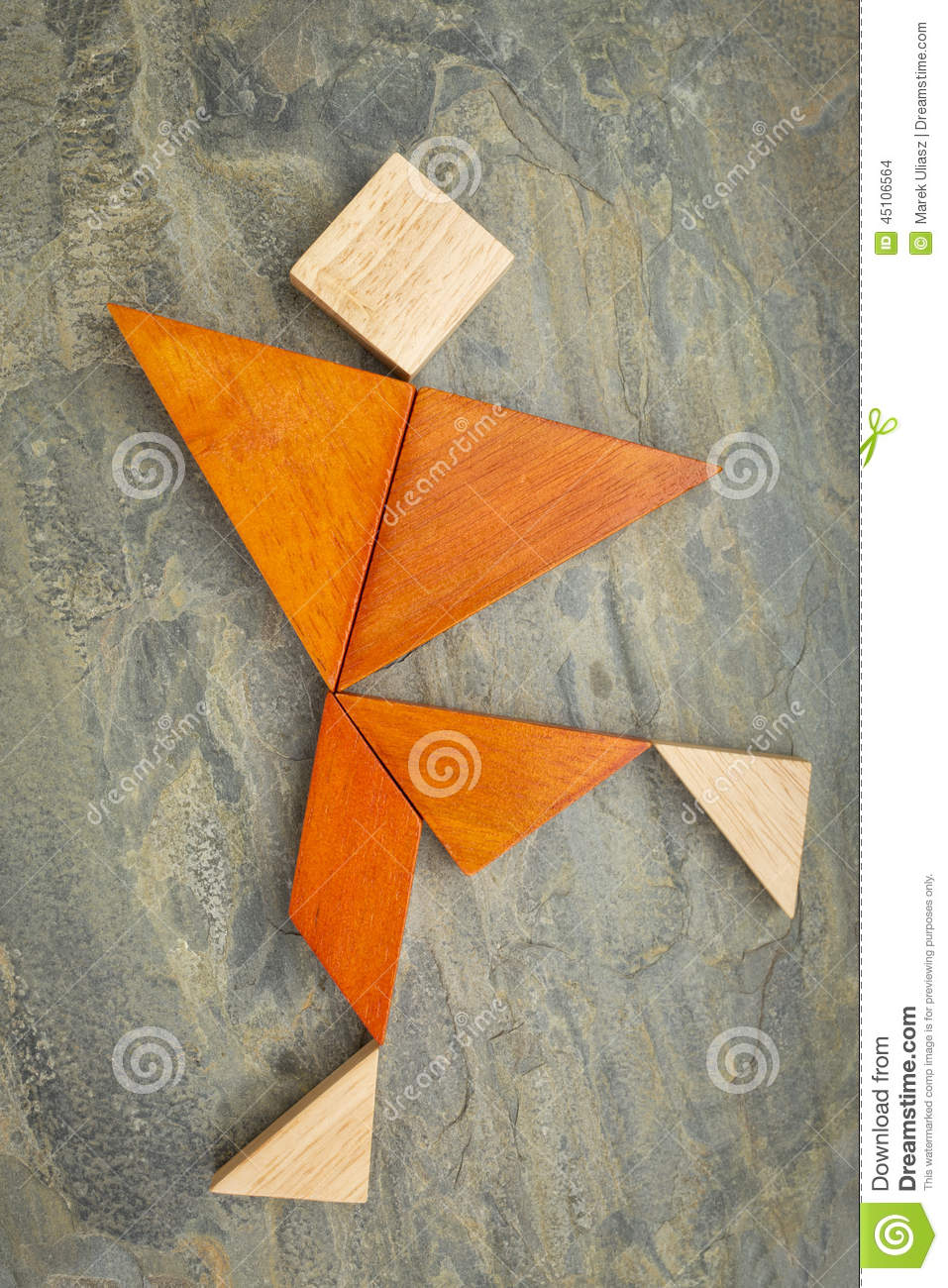 how to make a tangram with 7 pieces