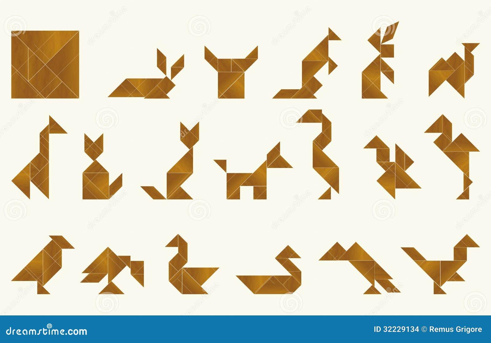 Tangram Fauna Cdr Format Stock Images Image 32229134
