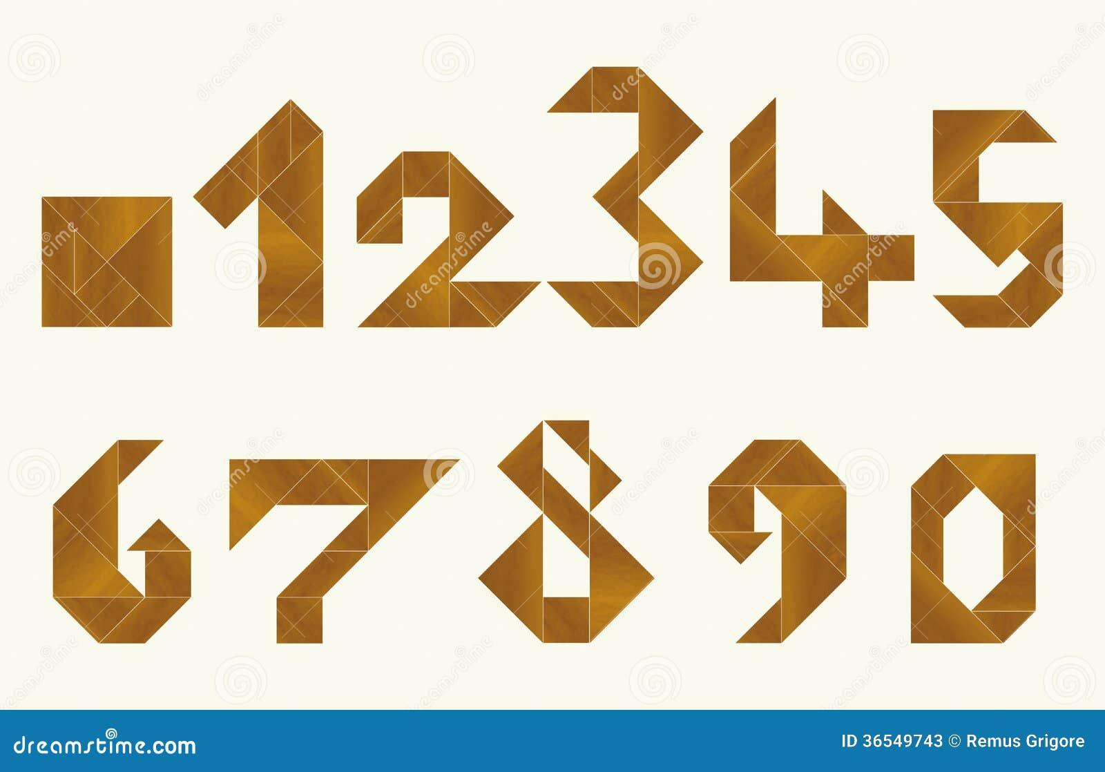 Tangram, Numbers - Cdr Format Stock Photos - Image: 36549743