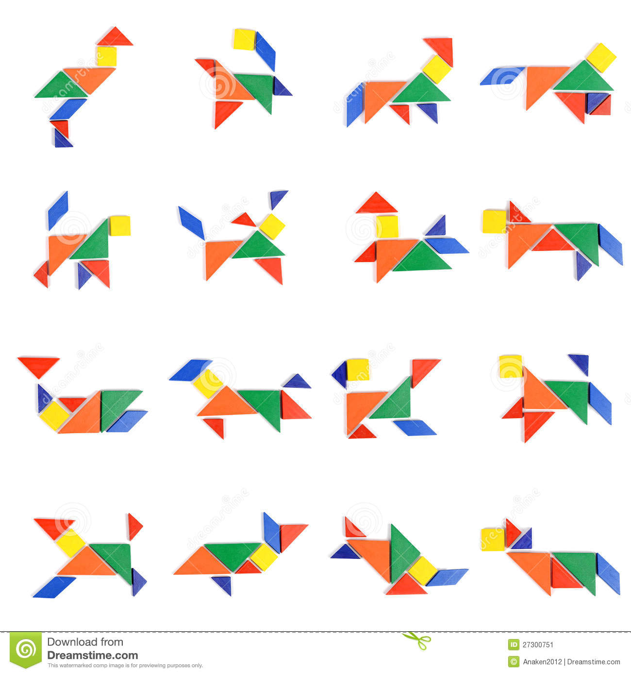 Tangram People Icon Stock Image - Image: 27300751