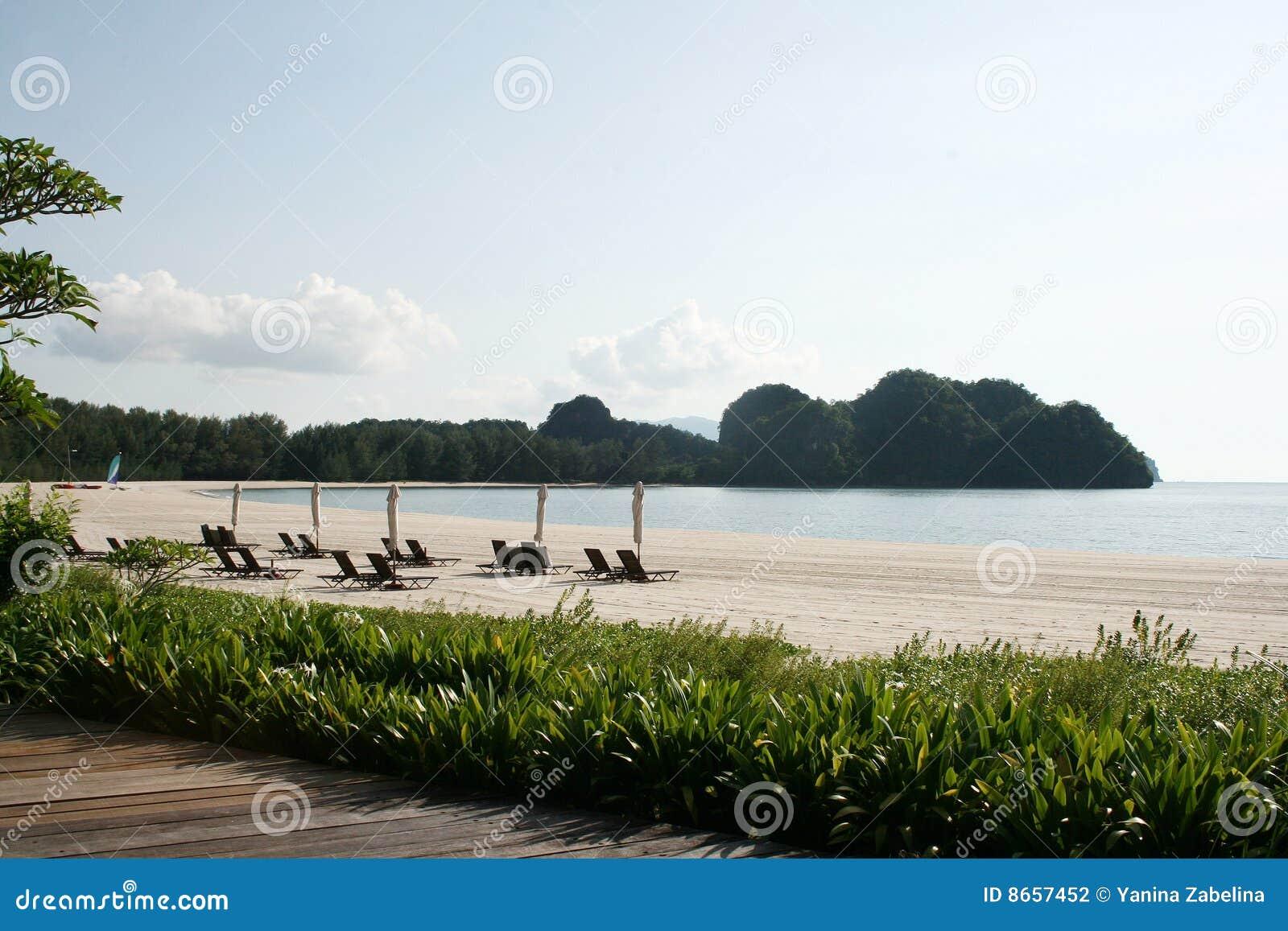 Tanjung de rhu de langkawi d île de plage
