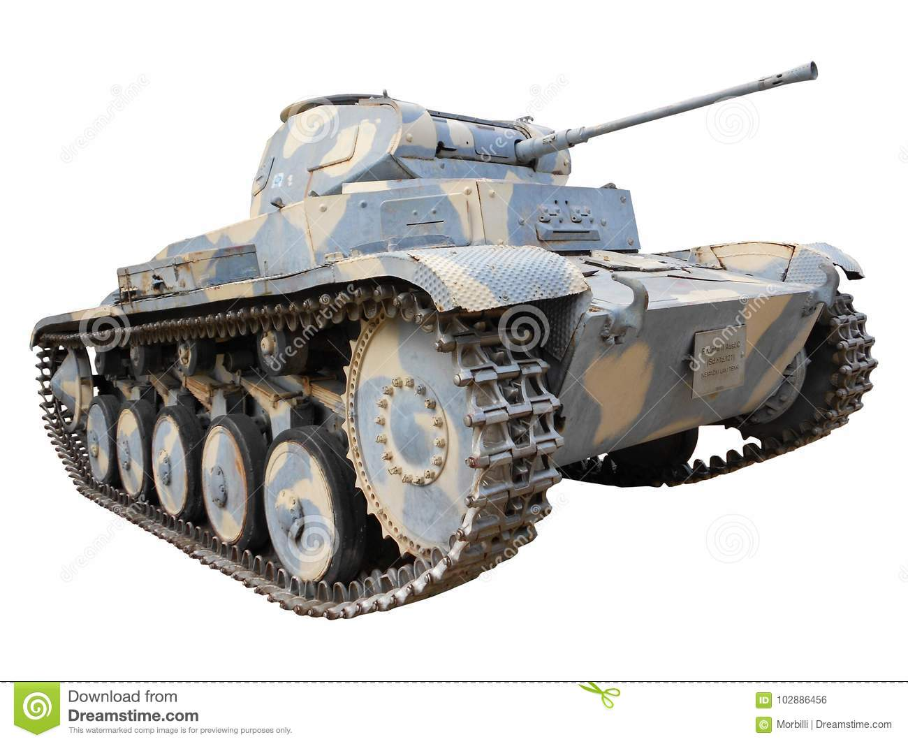 Tank in camouflage