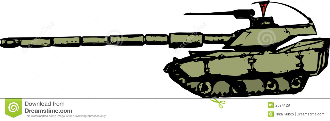Tank - Cartoon Style Royalty Free Stock Photos - Image: 2594128