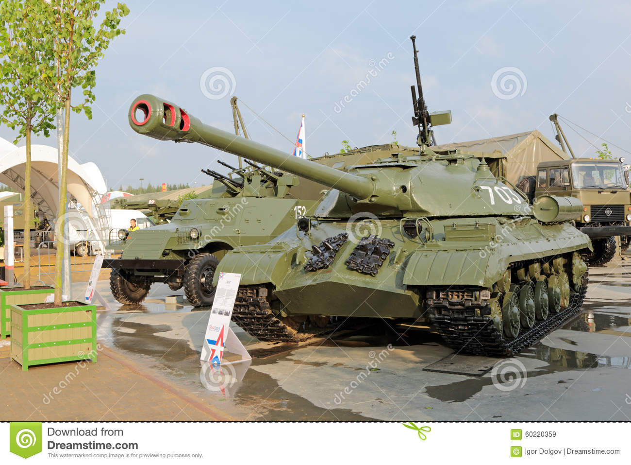 ... ARMY-2015 in military-Patriotic park. The IS-3 Soviet heavy tank